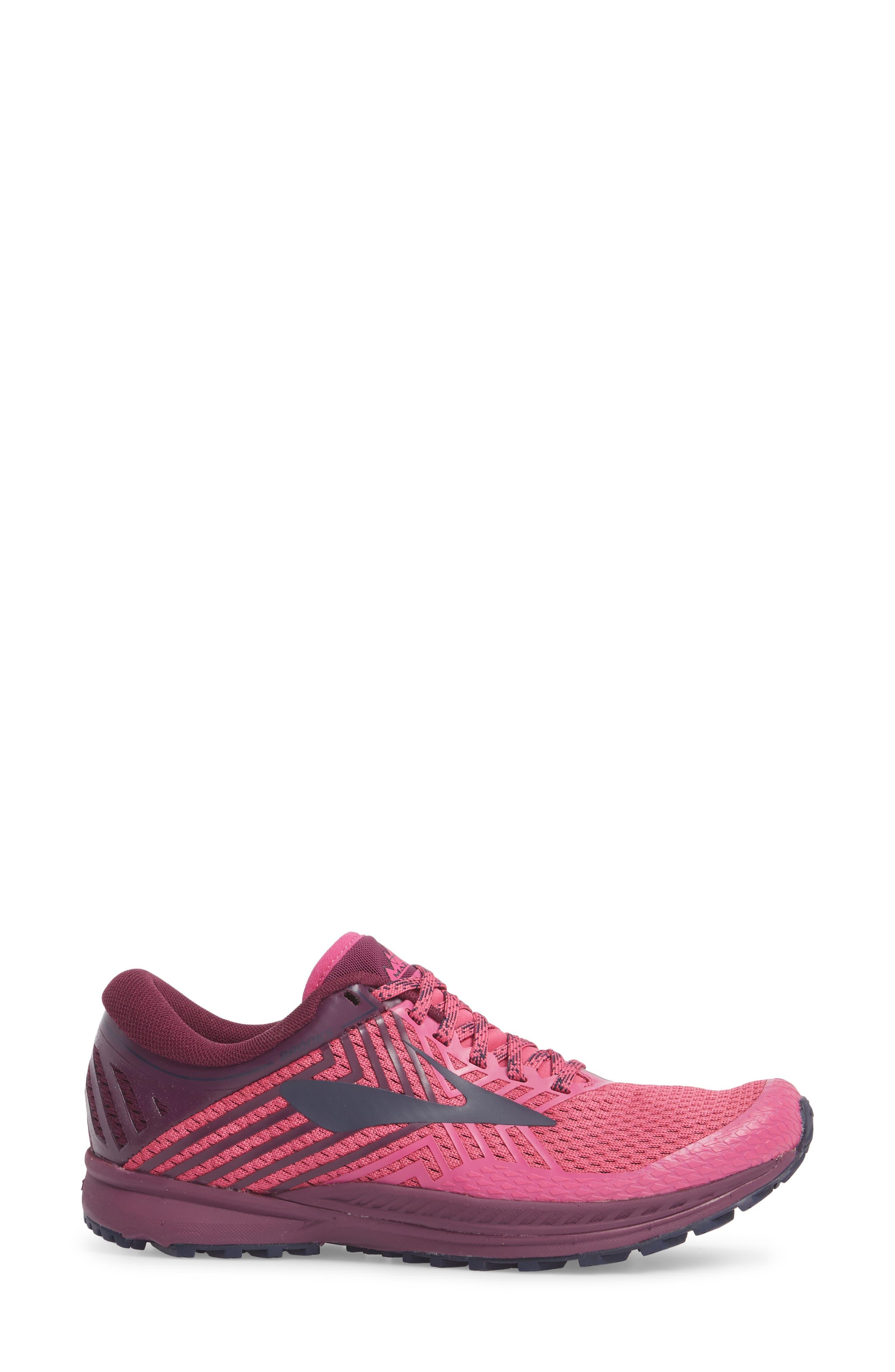 Mazama 2 Trail Running Shoe,                             Alternate thumbnail 3, color,                             PINK/ PLUM/ NAVY