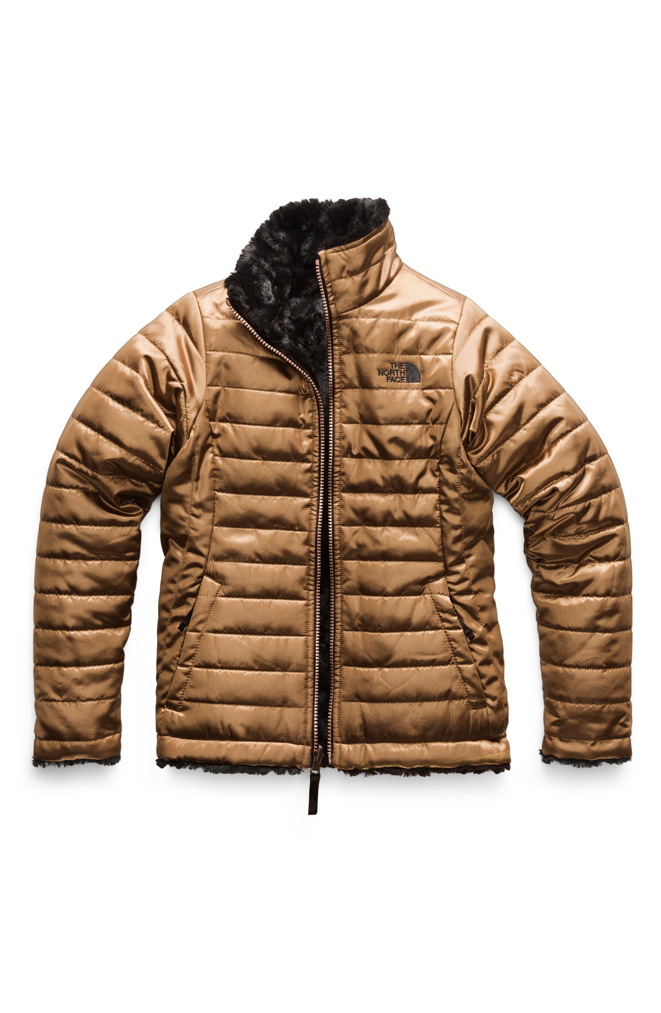 Mossbud Swirl Reversible Water Resistant Jacket,                             Main thumbnail 1, color,                             METALLIC COPPER