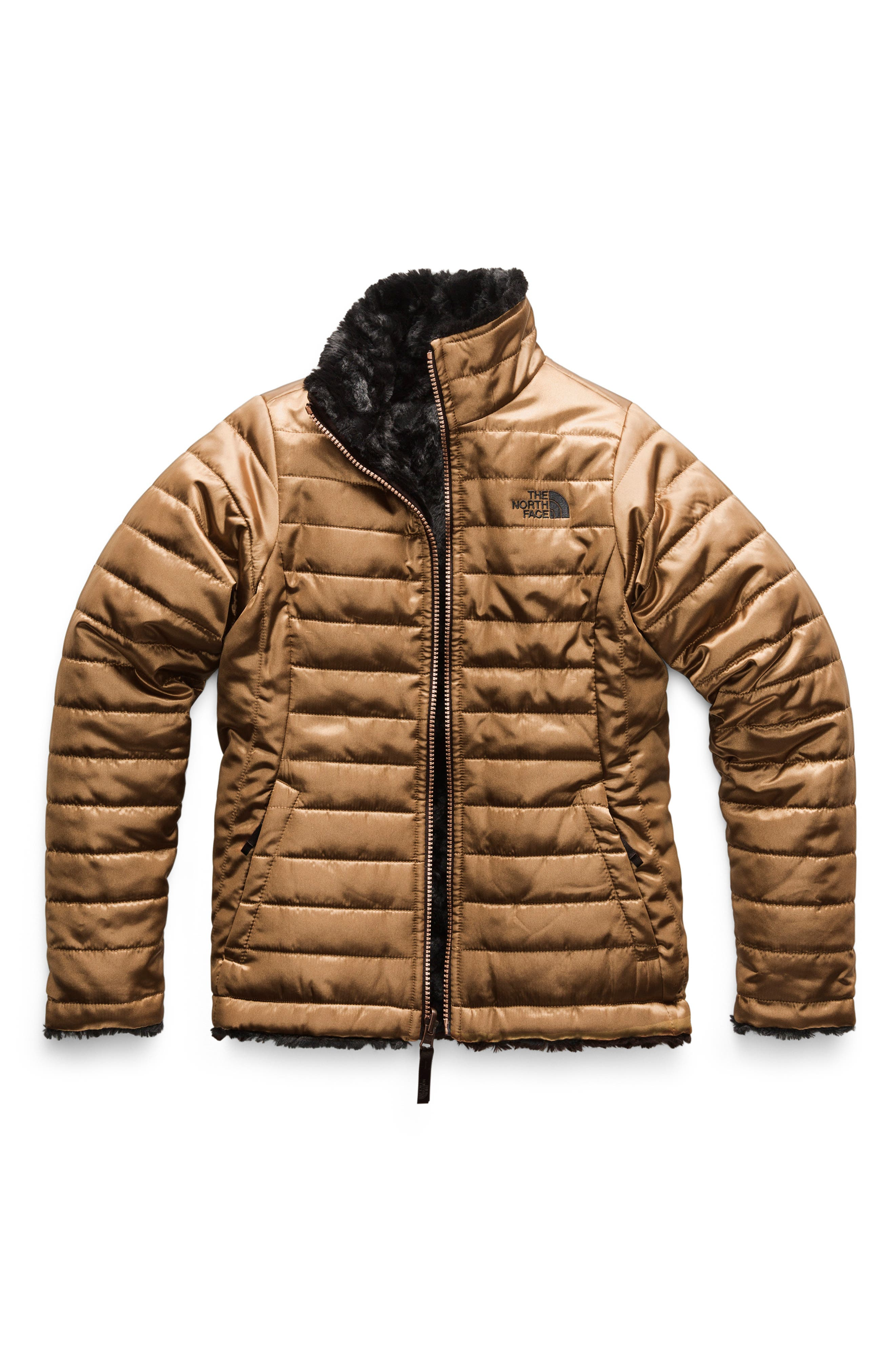Mossbud Swirl Reversible Water Resistant Jacket,                         Main,                         color, METALLIC COPPER