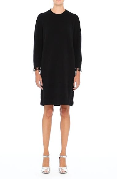 Beaded Fringe Wool & Cashmere Dress, video thumbnail