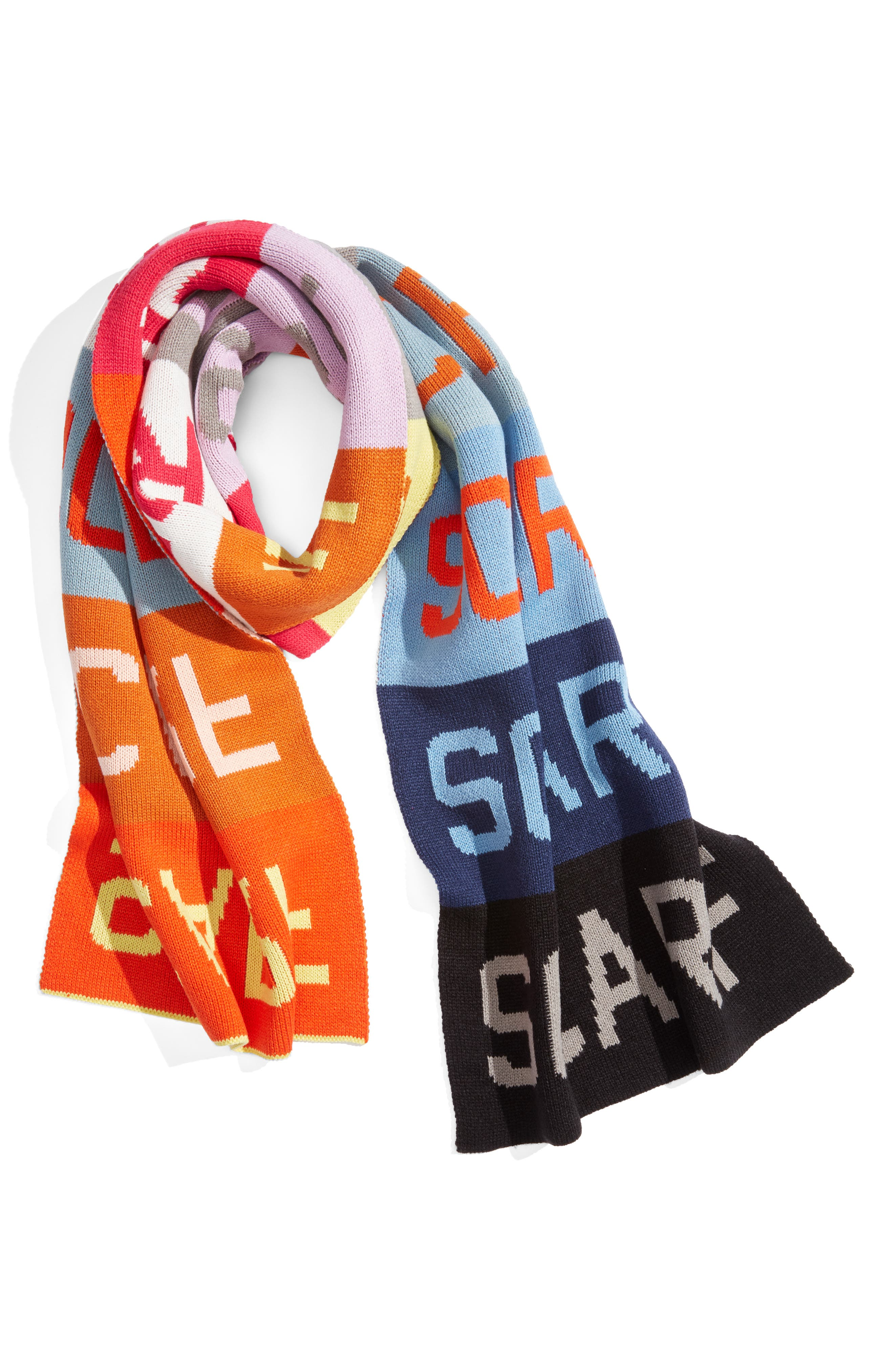 Scarf Scarf Scarf Scarf,                             Alternate thumbnail 2, color,                             MULTI VIVID