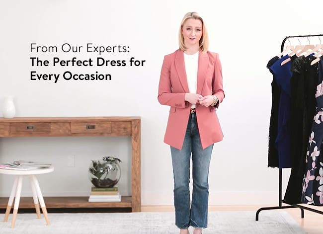 Play video about the perfect dress for every occasion.