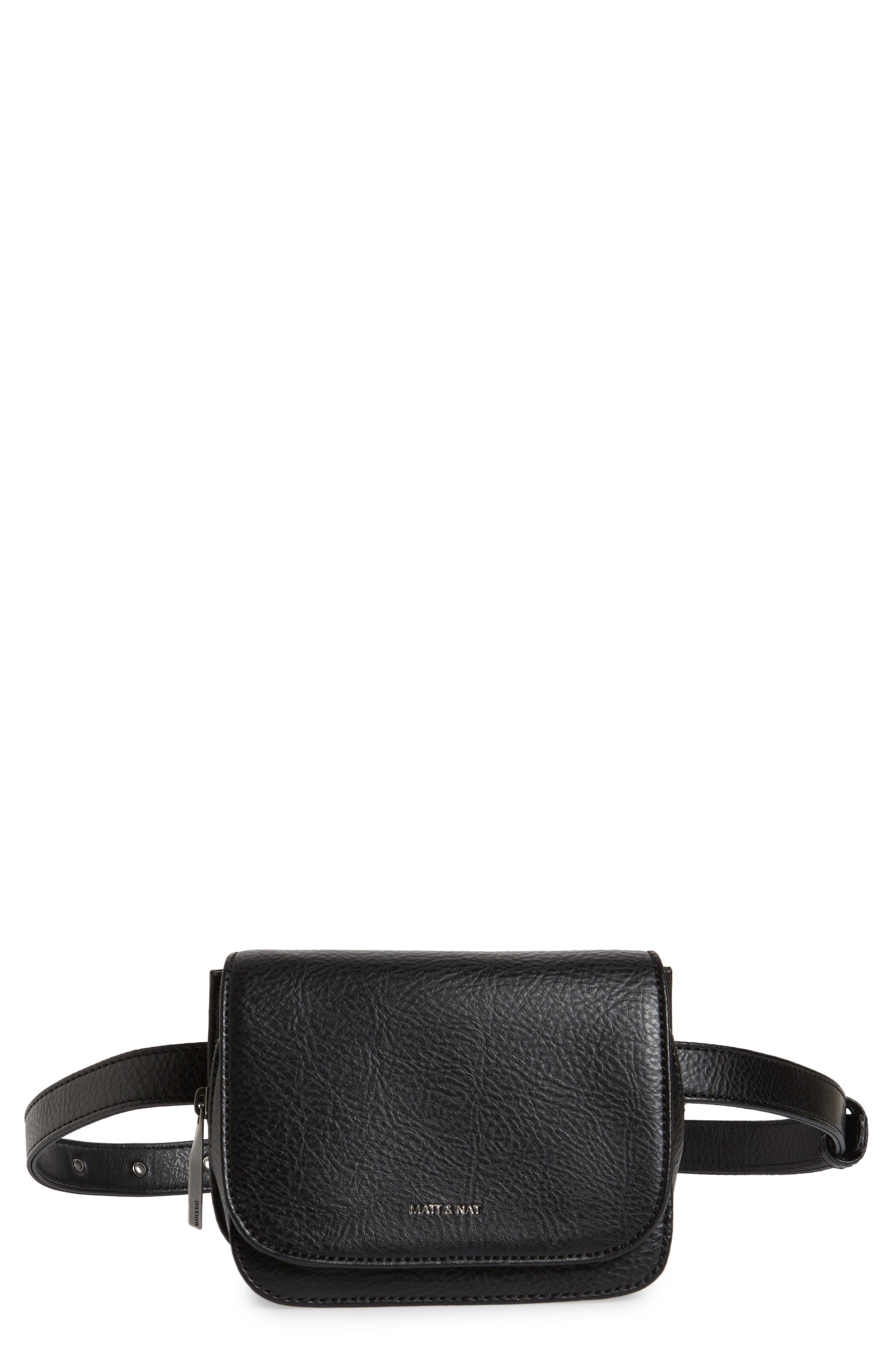 Matt & Nat Park Faux Leather Belt Bag - Black