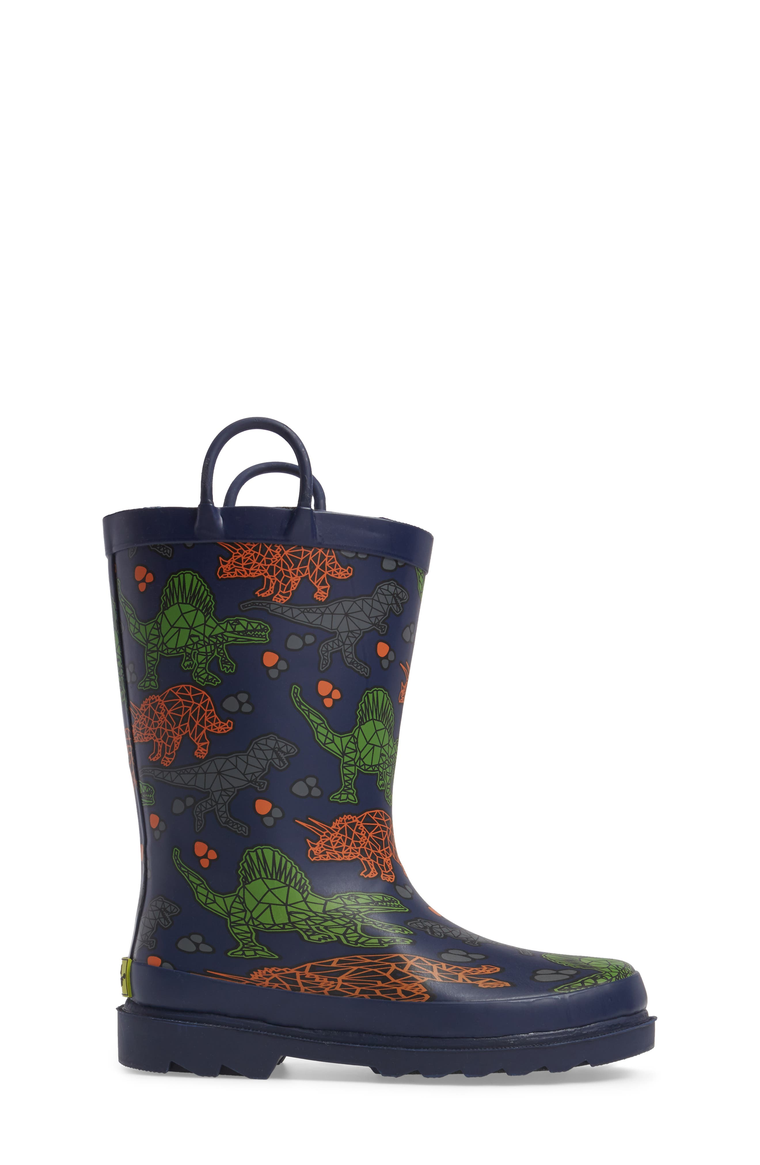 Dino Facets Rain Boot,                             Alternate thumbnail 3, color,                             421