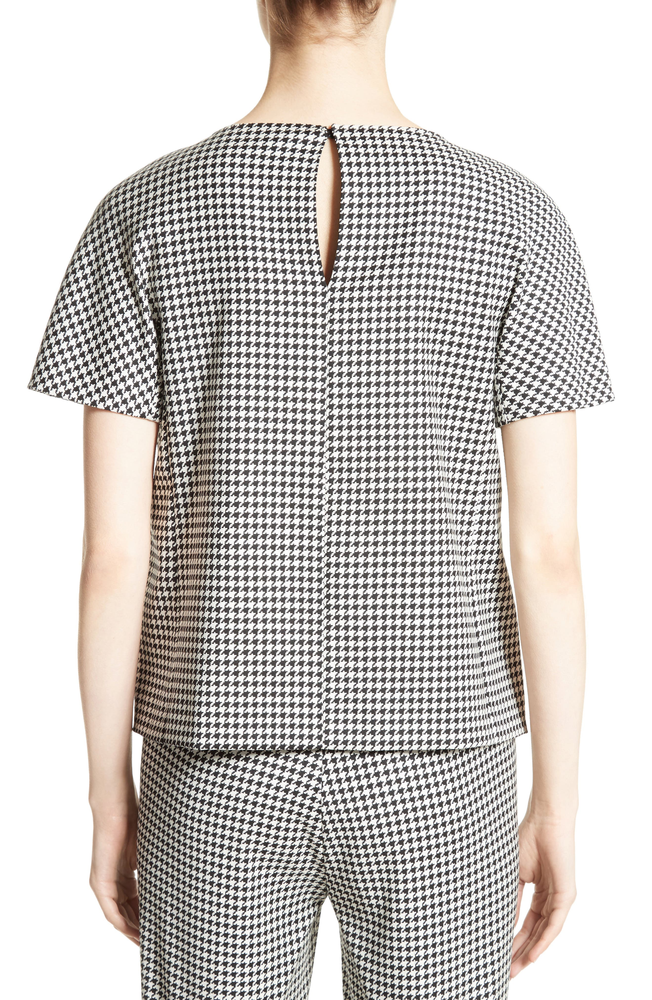 Ares Wool Blend Houndstooth Top,                             Alternate thumbnail 2, color,                             001