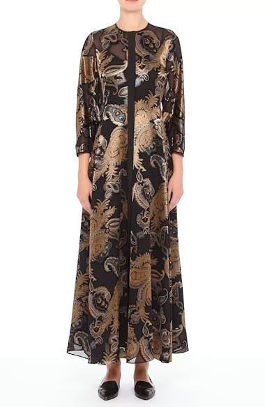 Cadenza Renaissance Paisley Devoré Dress, video thumbnail