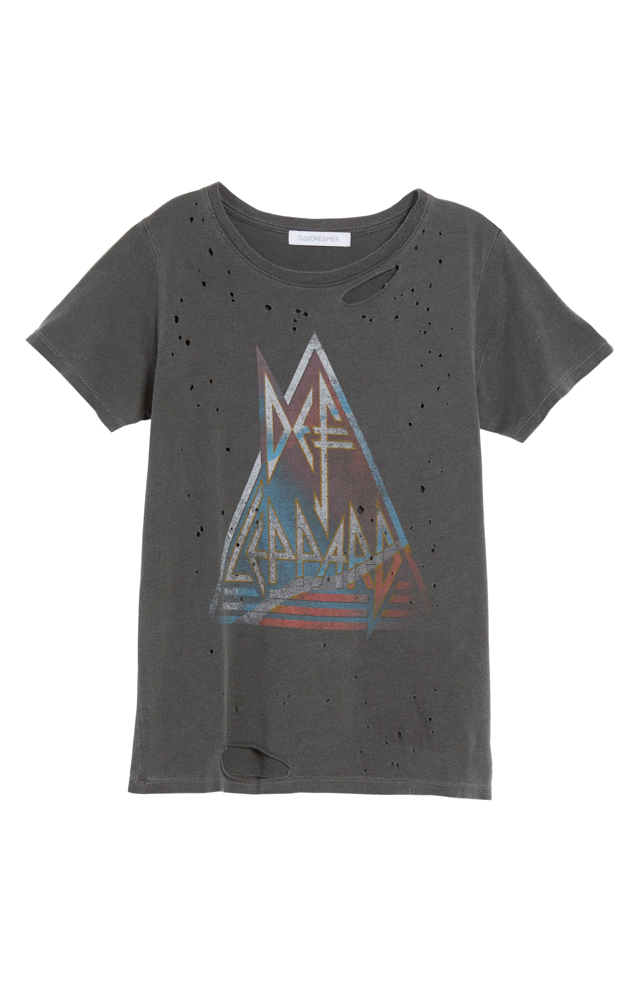 Through the Night Destroyed Graphic Tee,                             Alternate thumbnail 6, color,                             001