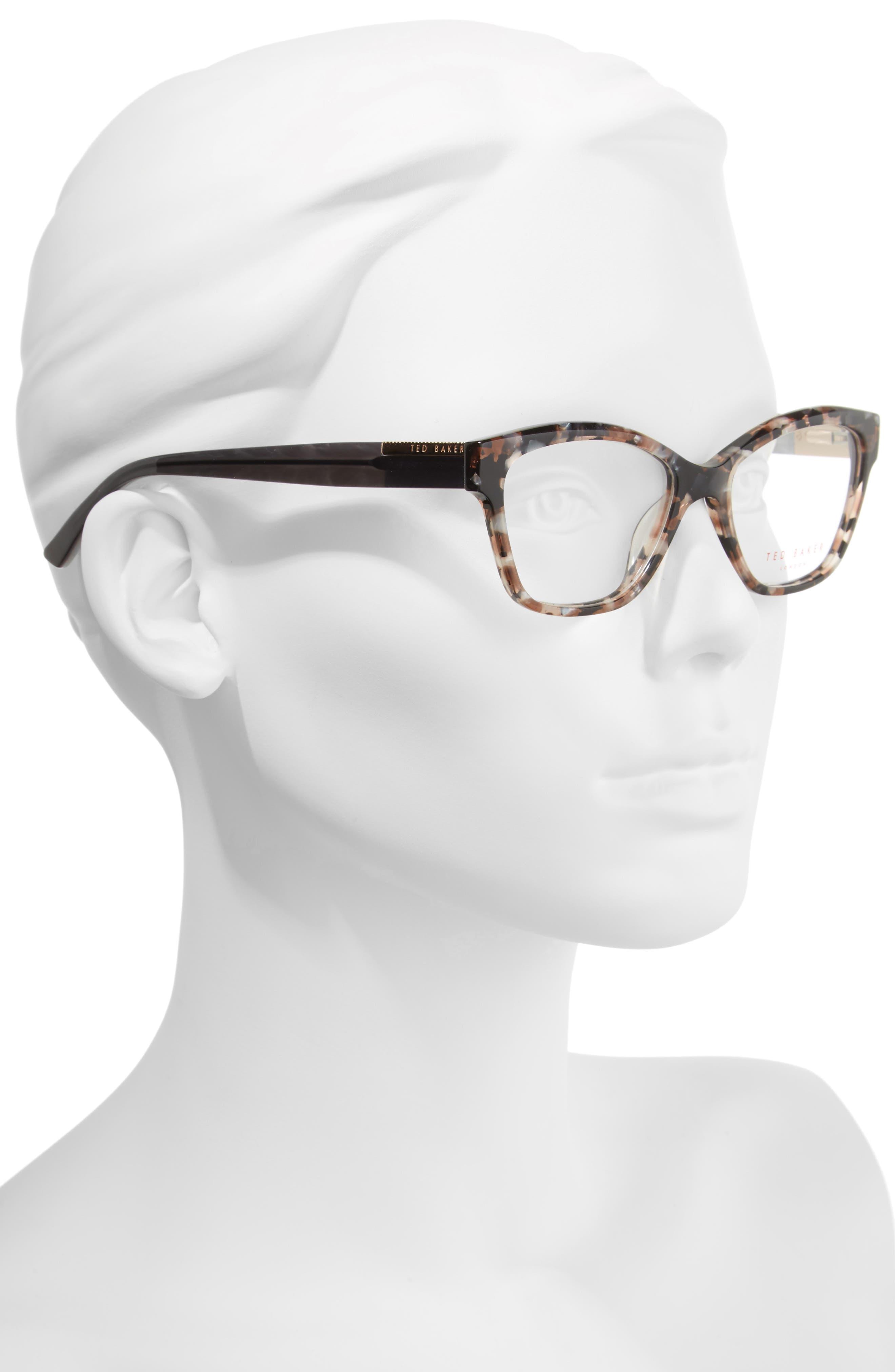 52mm Optical Cat Eye Glasses,                             Alternate thumbnail 2, color,                             650
