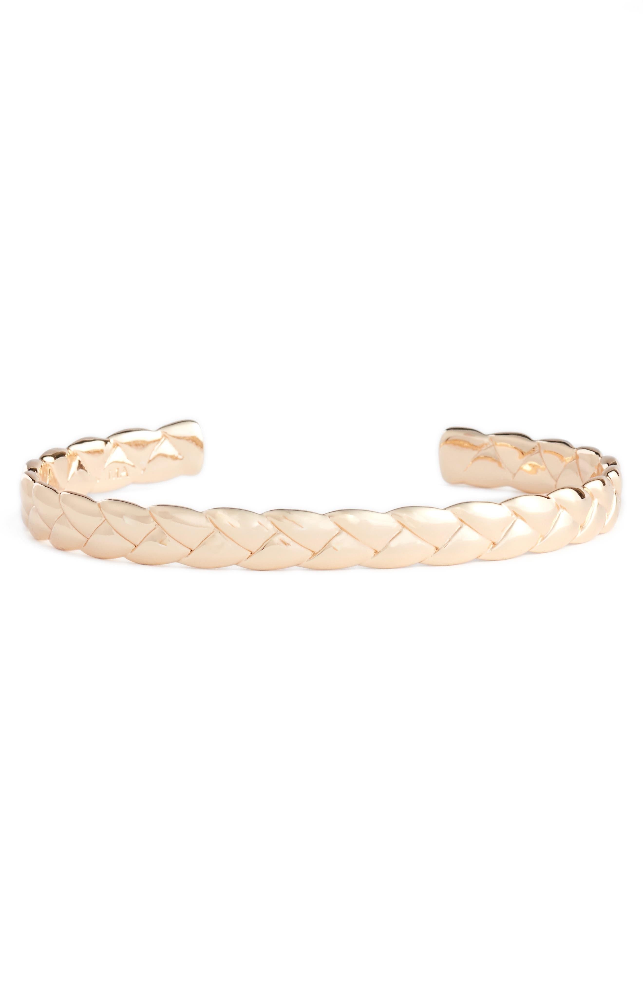 Woven Cuff Bracelet,                             Main thumbnail 3, color,
