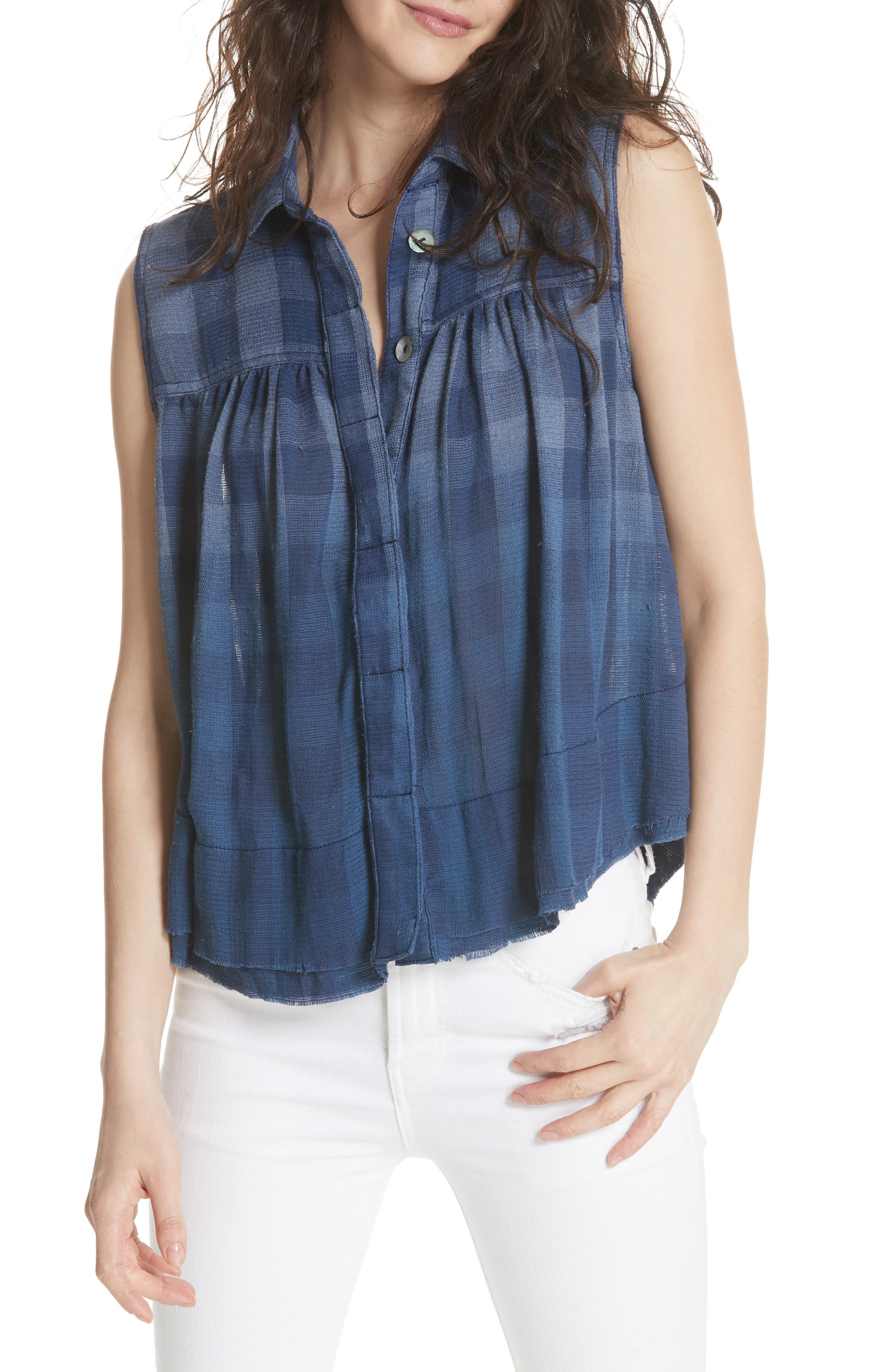 Hey There Sunrise Button Front Shirt,                         Main,                         color, 400