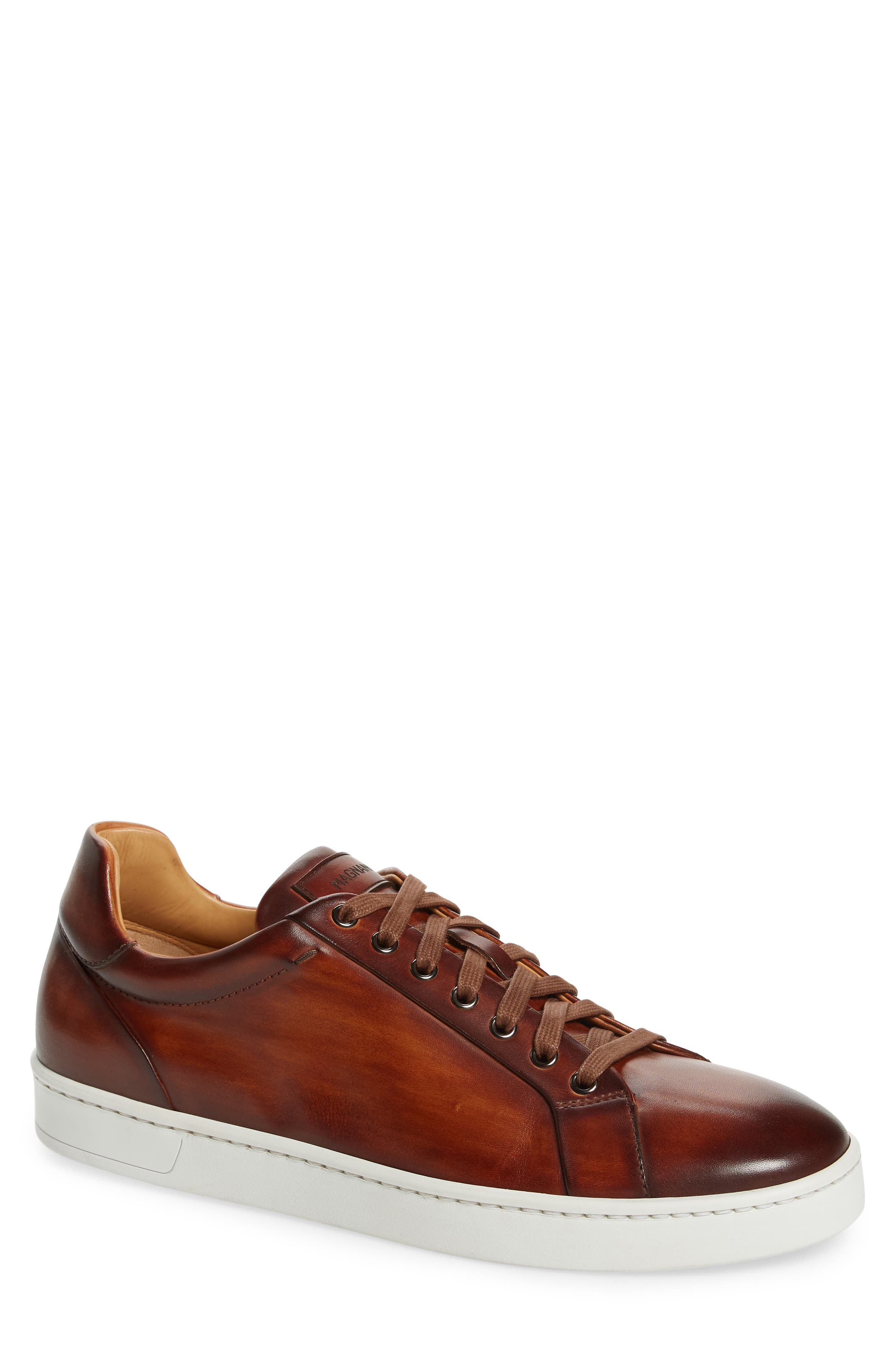 Elonso Low Top Sneaker,                             Main thumbnail 1, color,                             COGNAC LEATHER