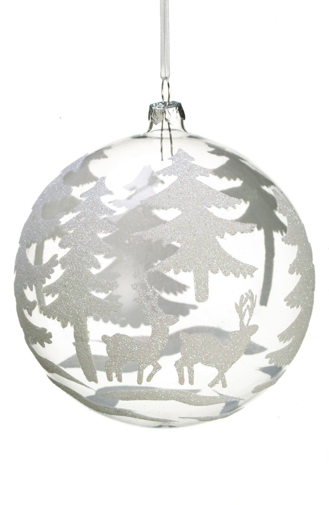 ALLSTATE,                             Round Glass Ornament, Large,                             Main thumbnail 1, color,                             100