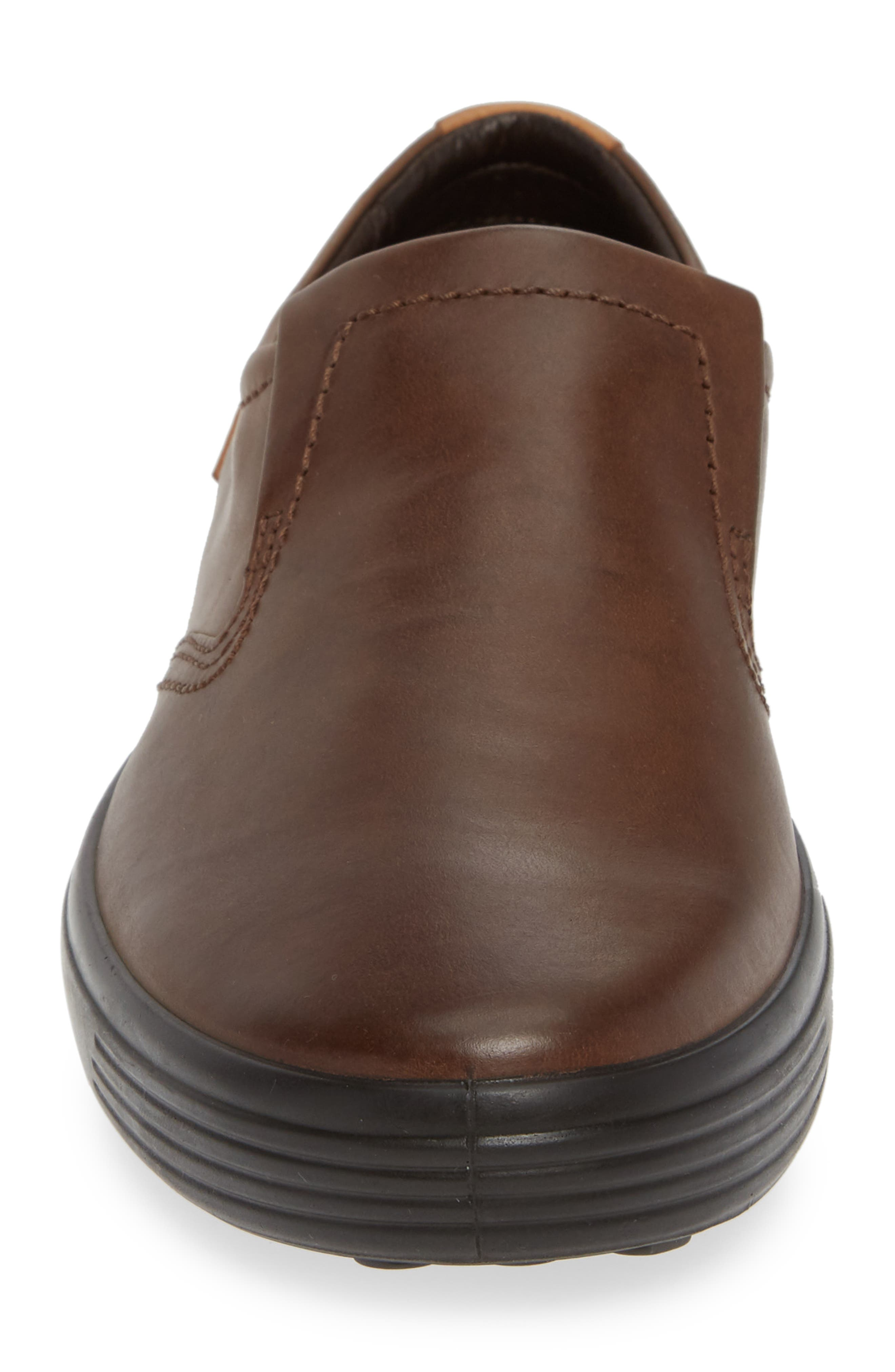 'Soft 7' Slip-On,                             Alternate thumbnail 4, color,                             BROWN LEATHER