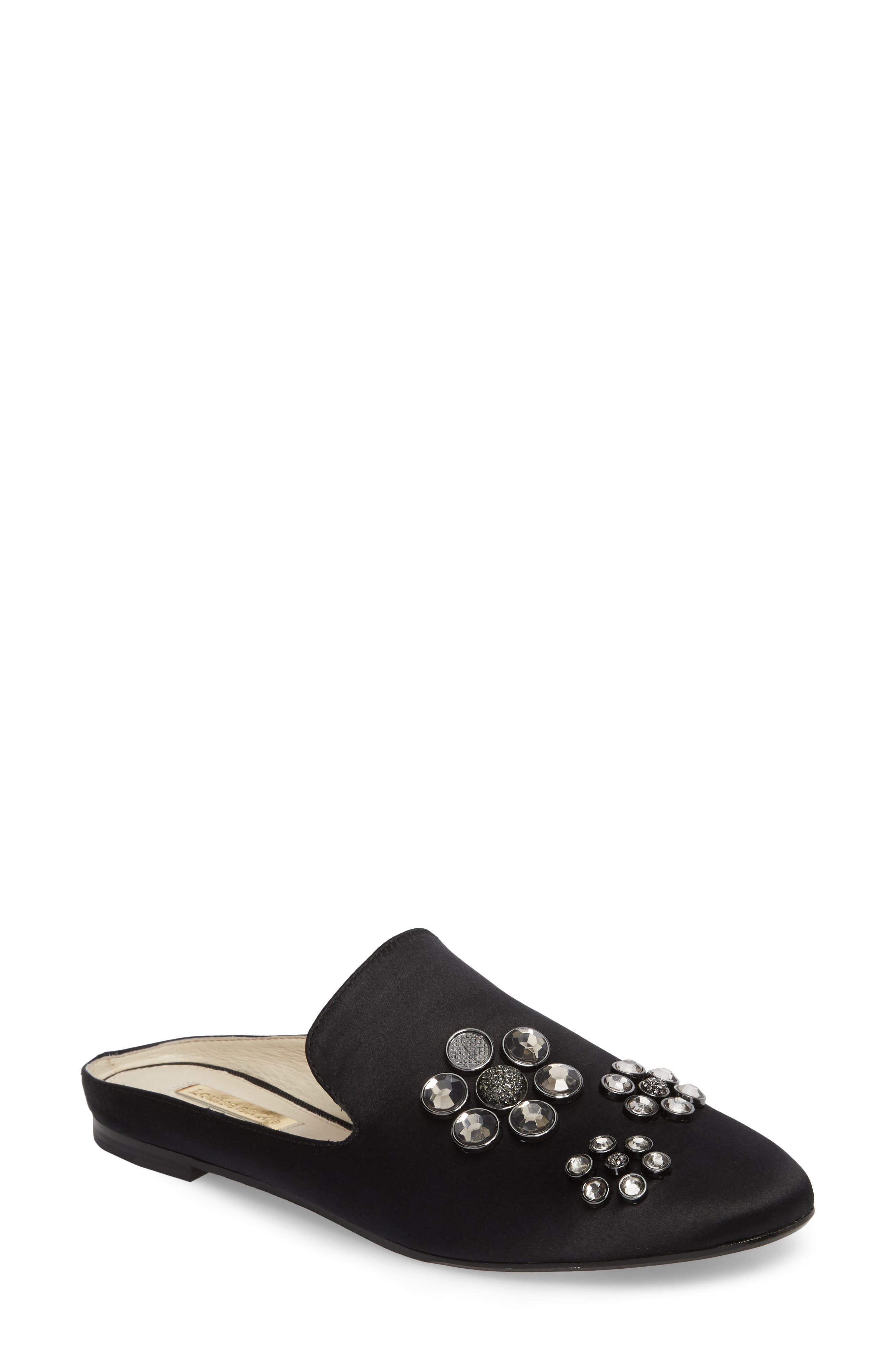 Felix II Crystal Flower Loafer Mule,                             Main thumbnail 1, color,