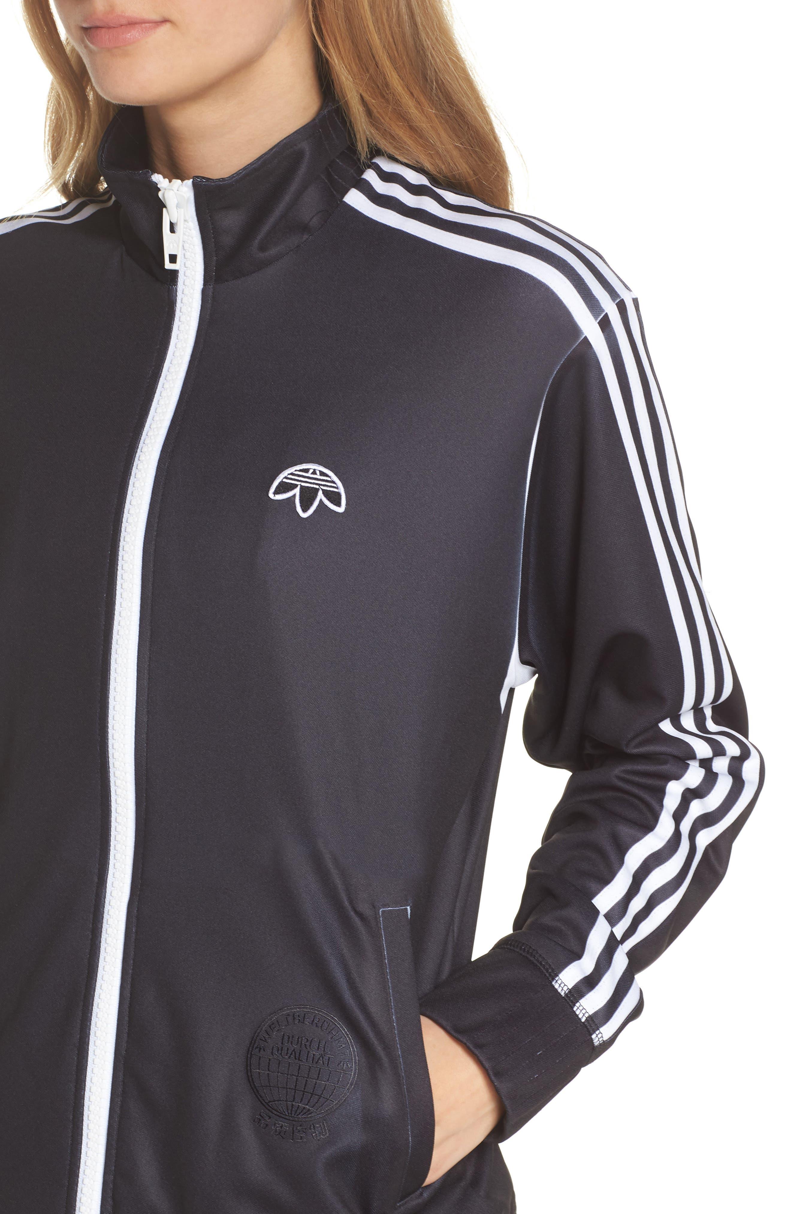 adidas x Alexander Wang Track Jacket,                             Alternate thumbnail 4, color,                             001