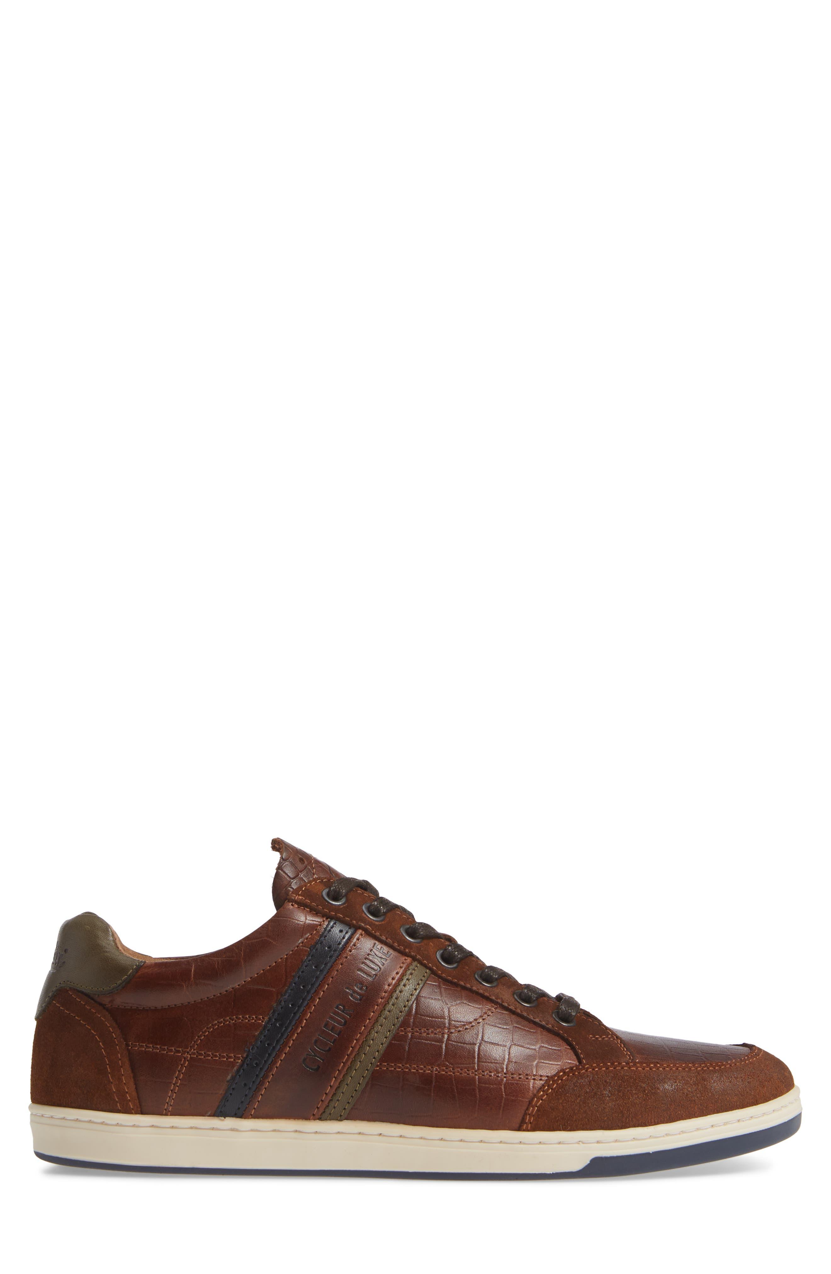 Preston Sneaker,                             Alternate thumbnail 3, color,                             COGNAC