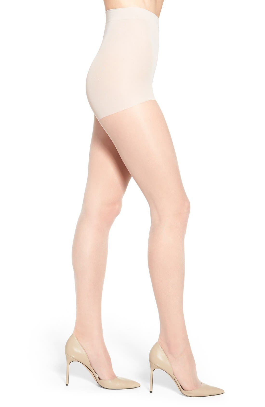 Control Top Pantyhose,                         Main,                         color, LINEN