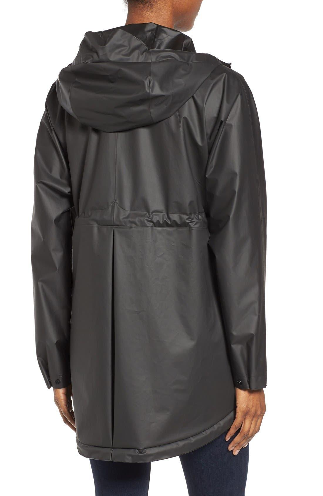 'Original Smock' Hooded Drawstring Waterproof Jacket,                             Alternate thumbnail 3, color,                             001