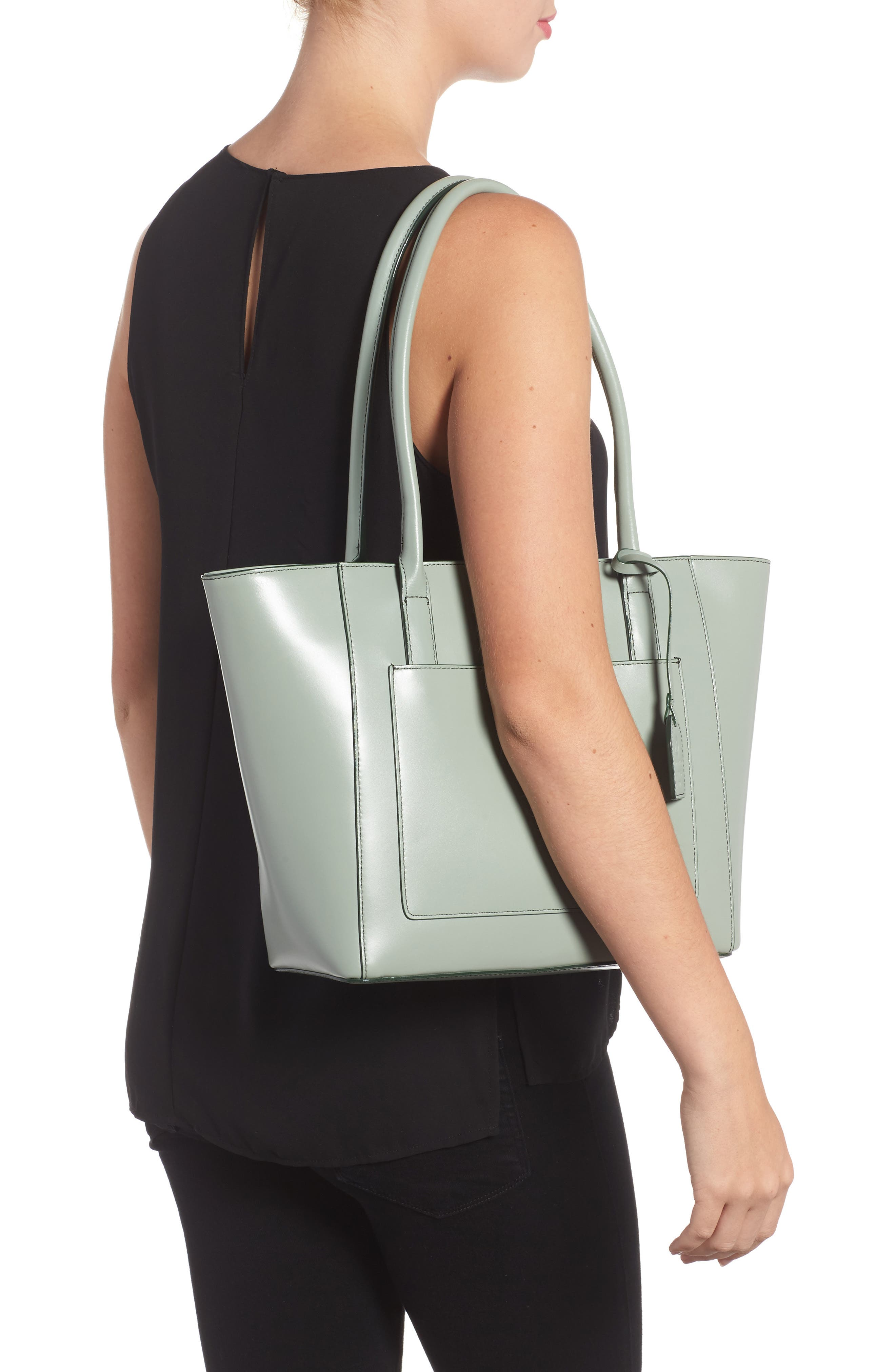 Audrey Under Lock & Key - Medium Margaret RFID Leather Tote with Zip Pouch,                             Alternate thumbnail 7, color,