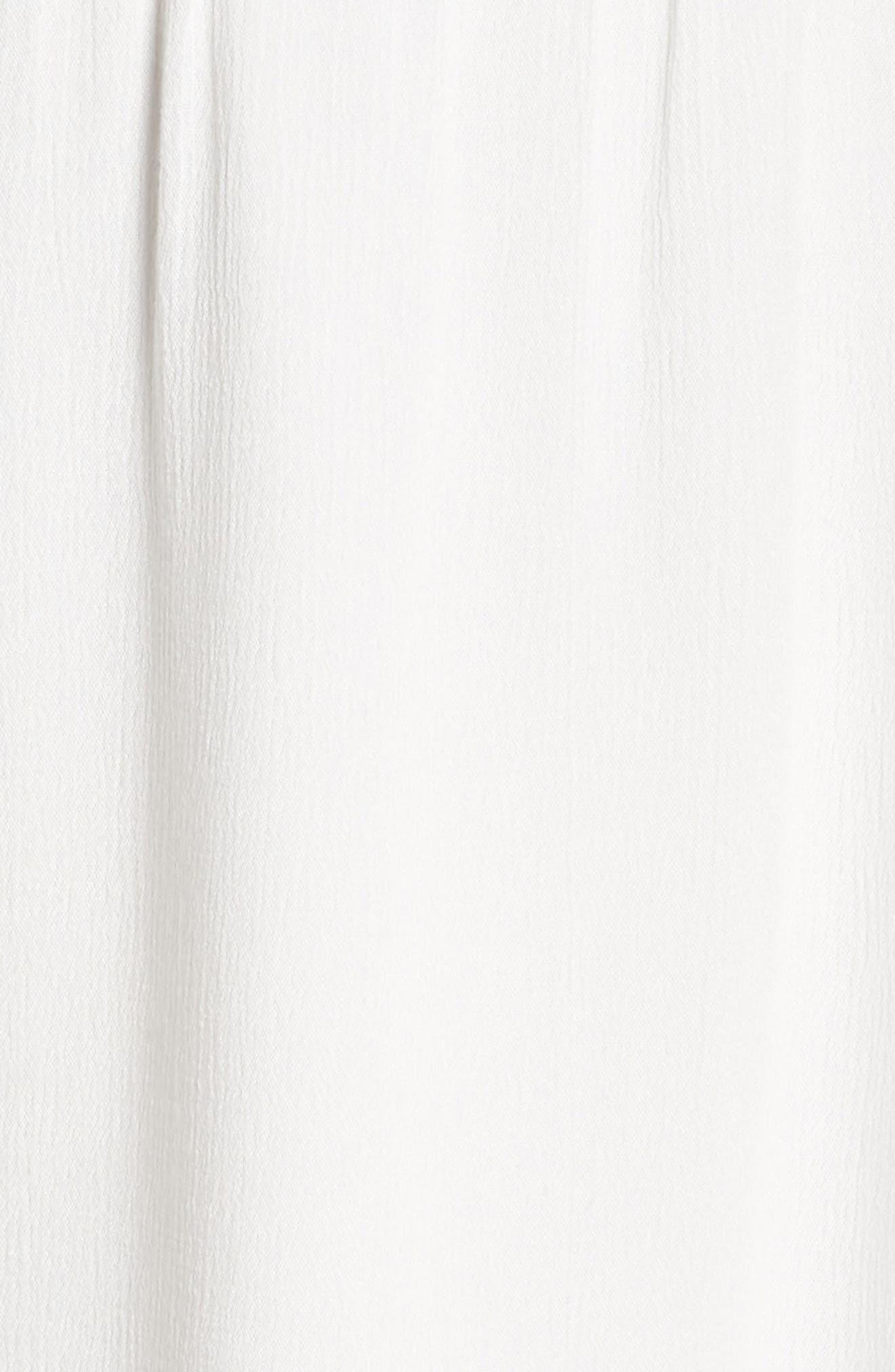 Lace Trim Peasant Minidress,                             Alternate thumbnail 5, color,