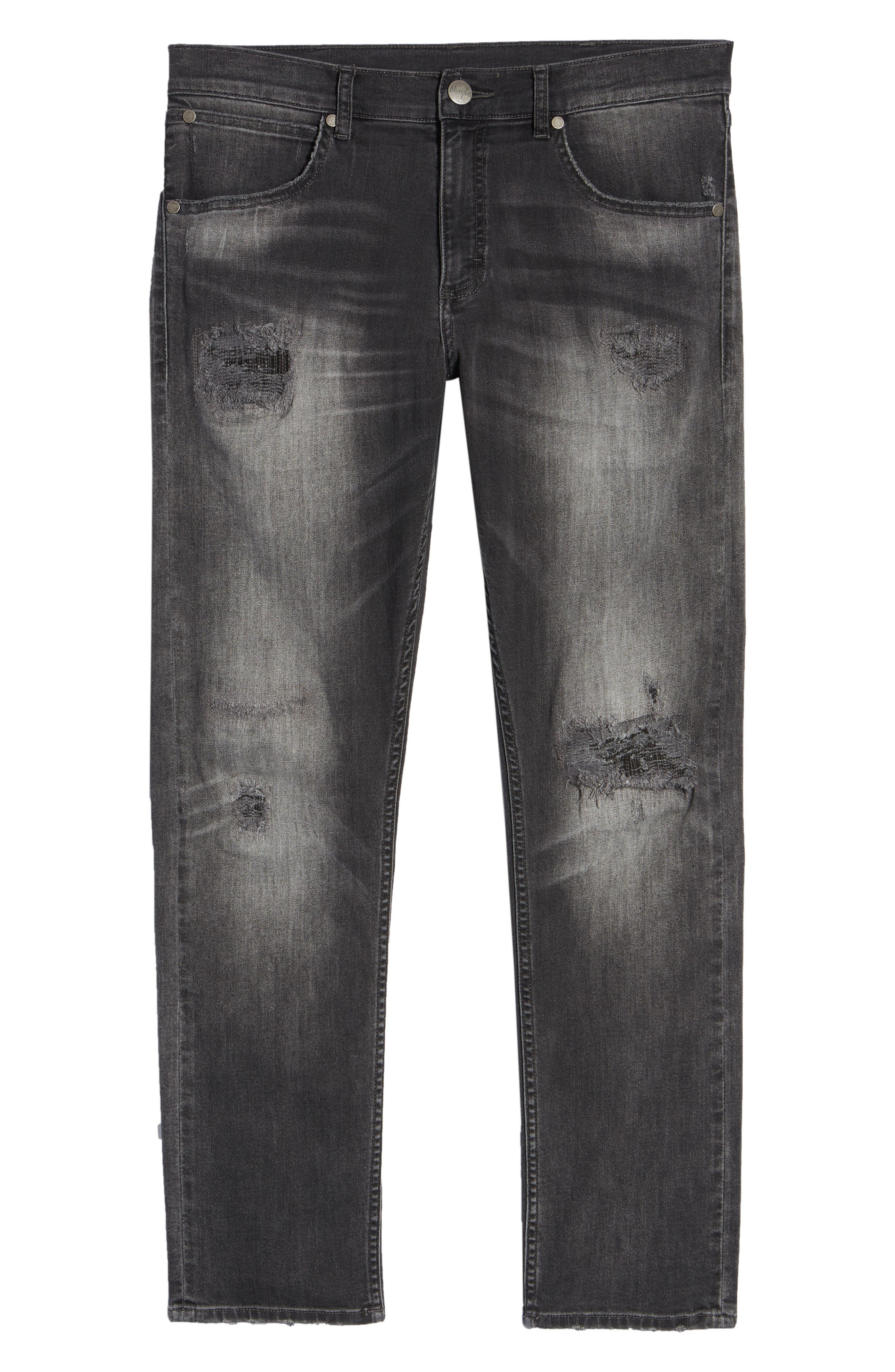 Greensboro Straight Leg Jeans,                             Alternate thumbnail 6, color,                             GREY DESTRUCT