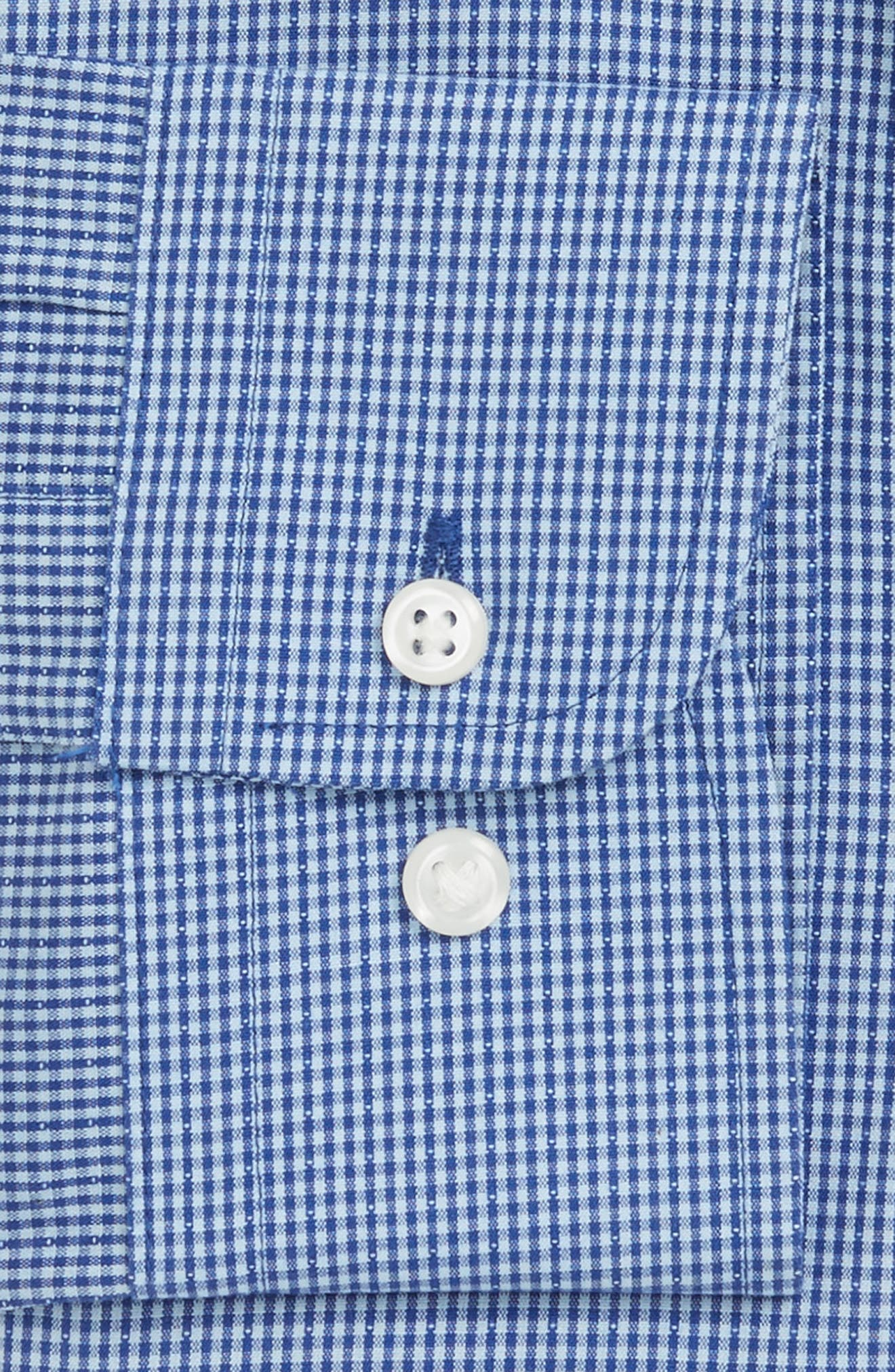 Smartcare<sup>™</sup> Trim Fit Check Dress Shirt,                             Alternate thumbnail 4, color,