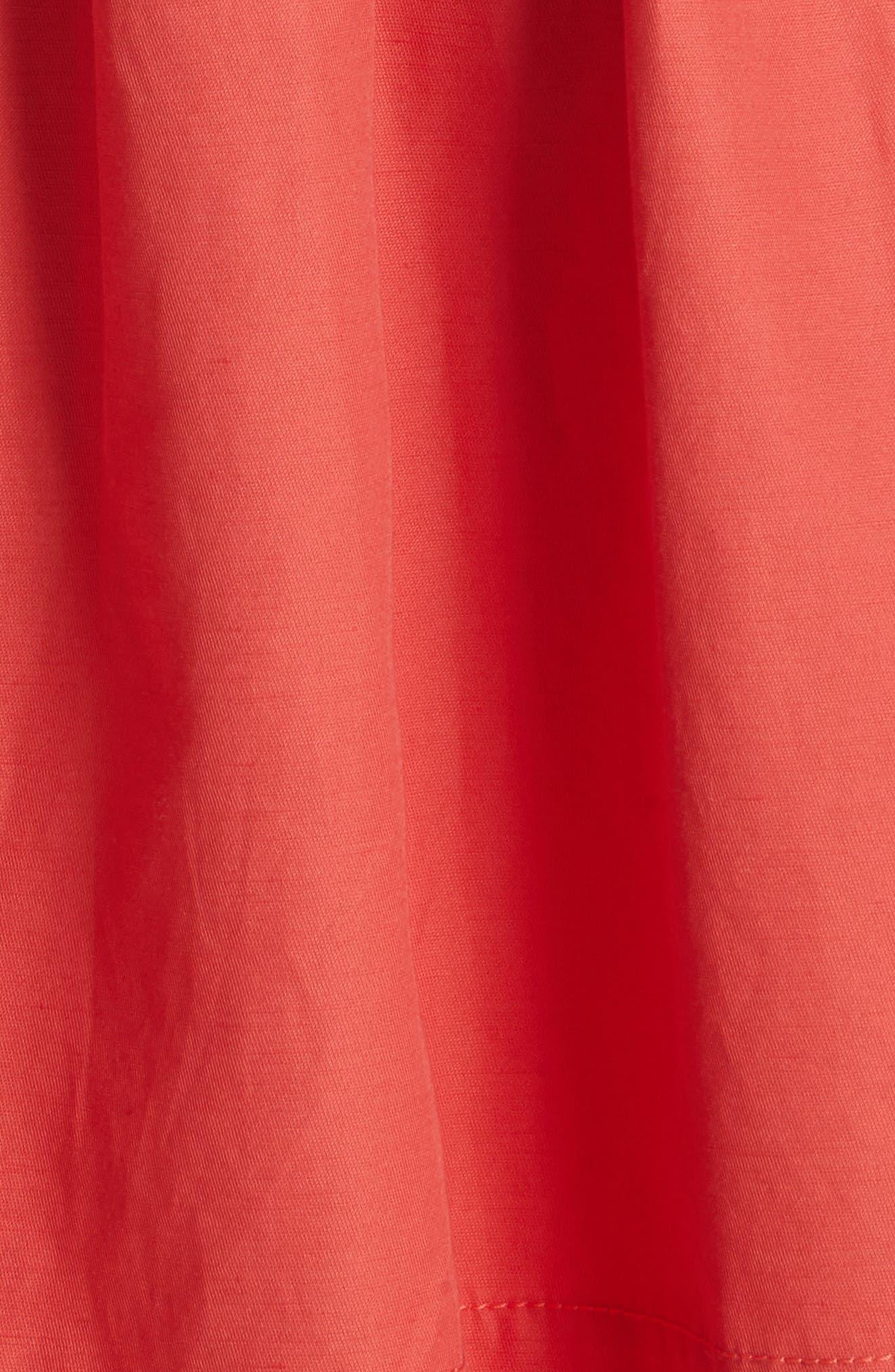 Sleeveless Ruffle Hem Dress,                             Alternate thumbnail 5, color,                             601