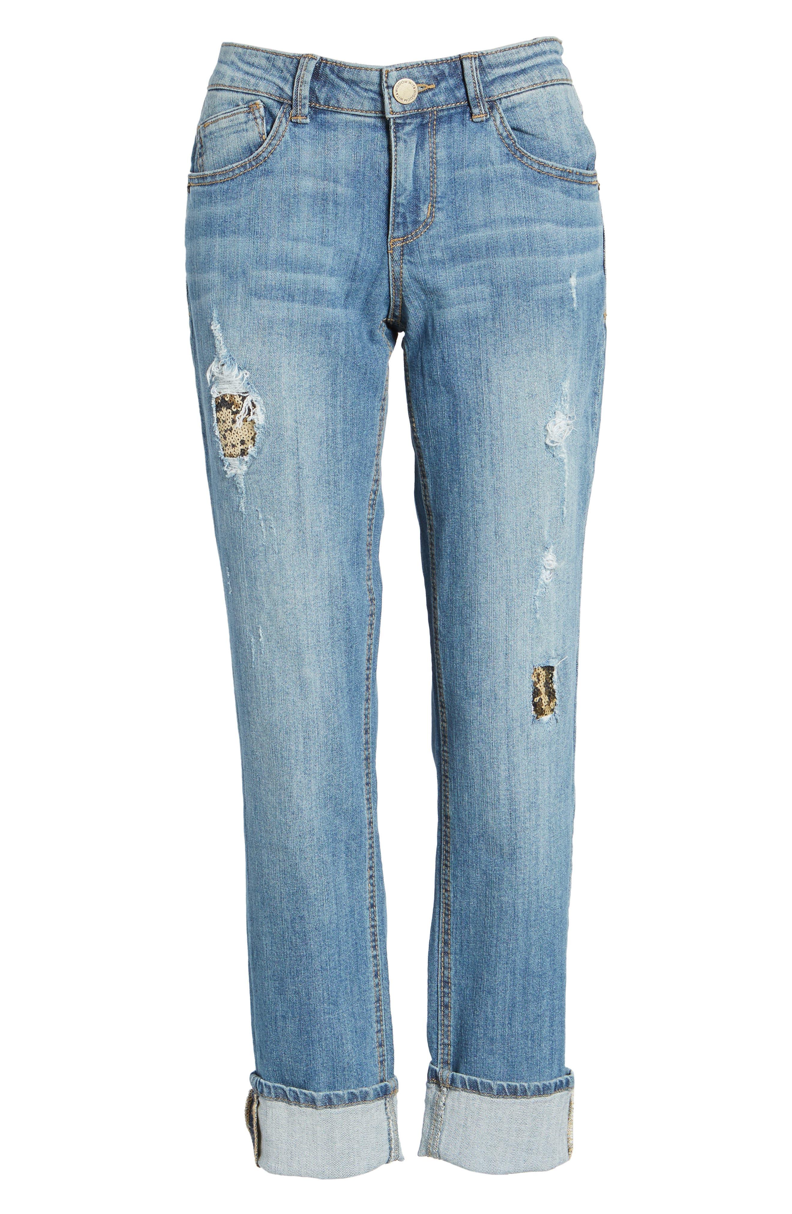 Flexellent Skinny Girlfriend Jeans,                             Alternate thumbnail 6, color,                             458