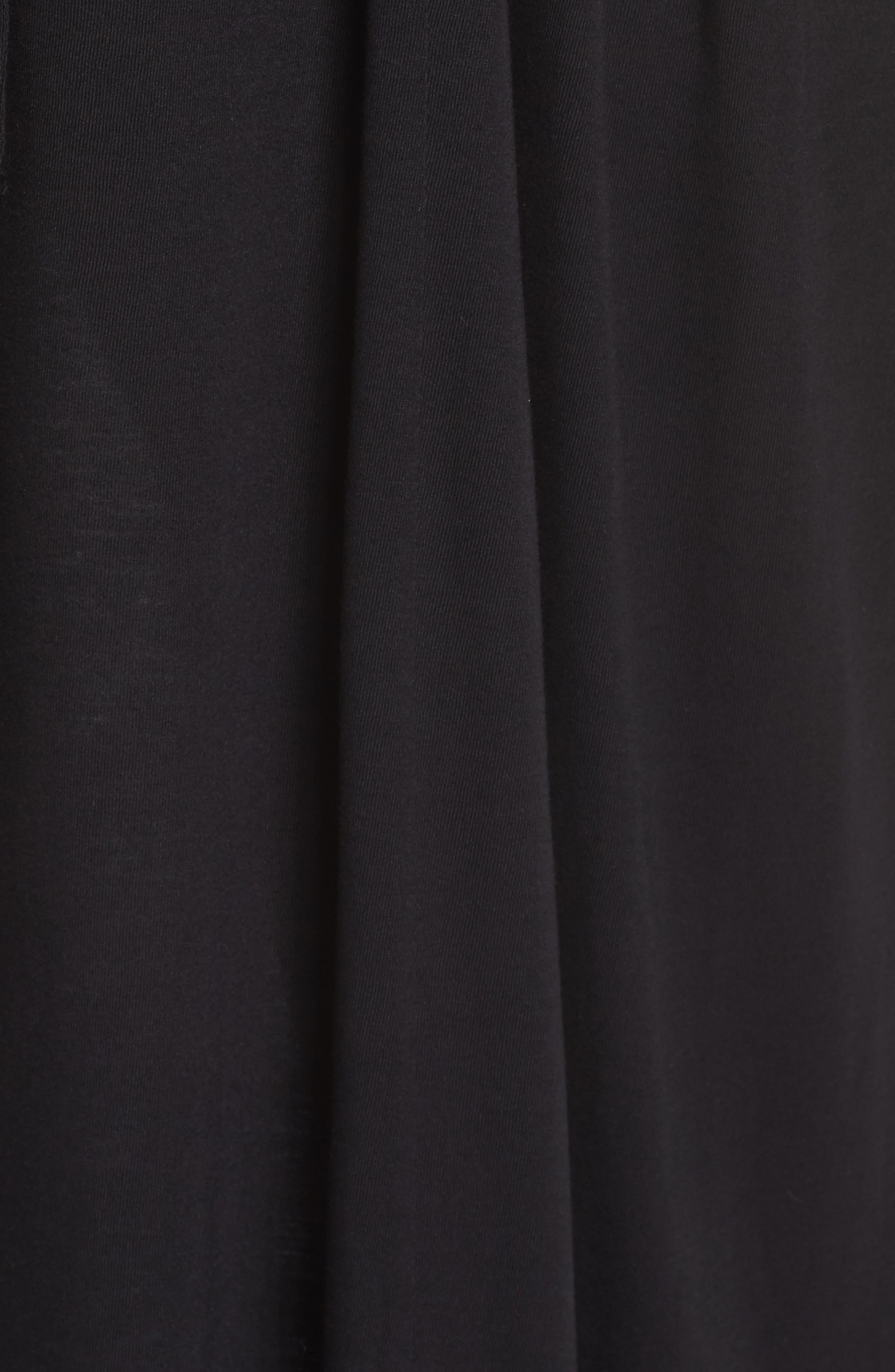 Tie Waist Maxi Dress,                             Alternate thumbnail 6, color,                             001