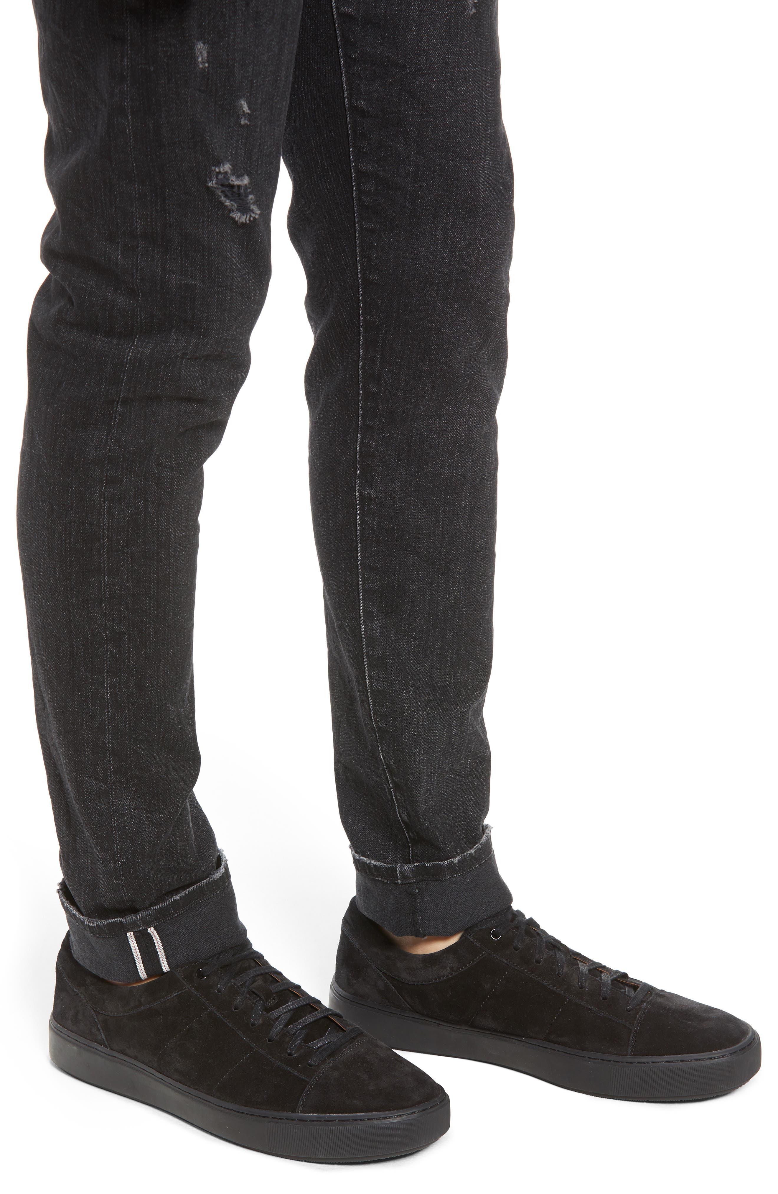 Tyler Slim Fit Jeans,                             Alternate thumbnail 4, color,                             009