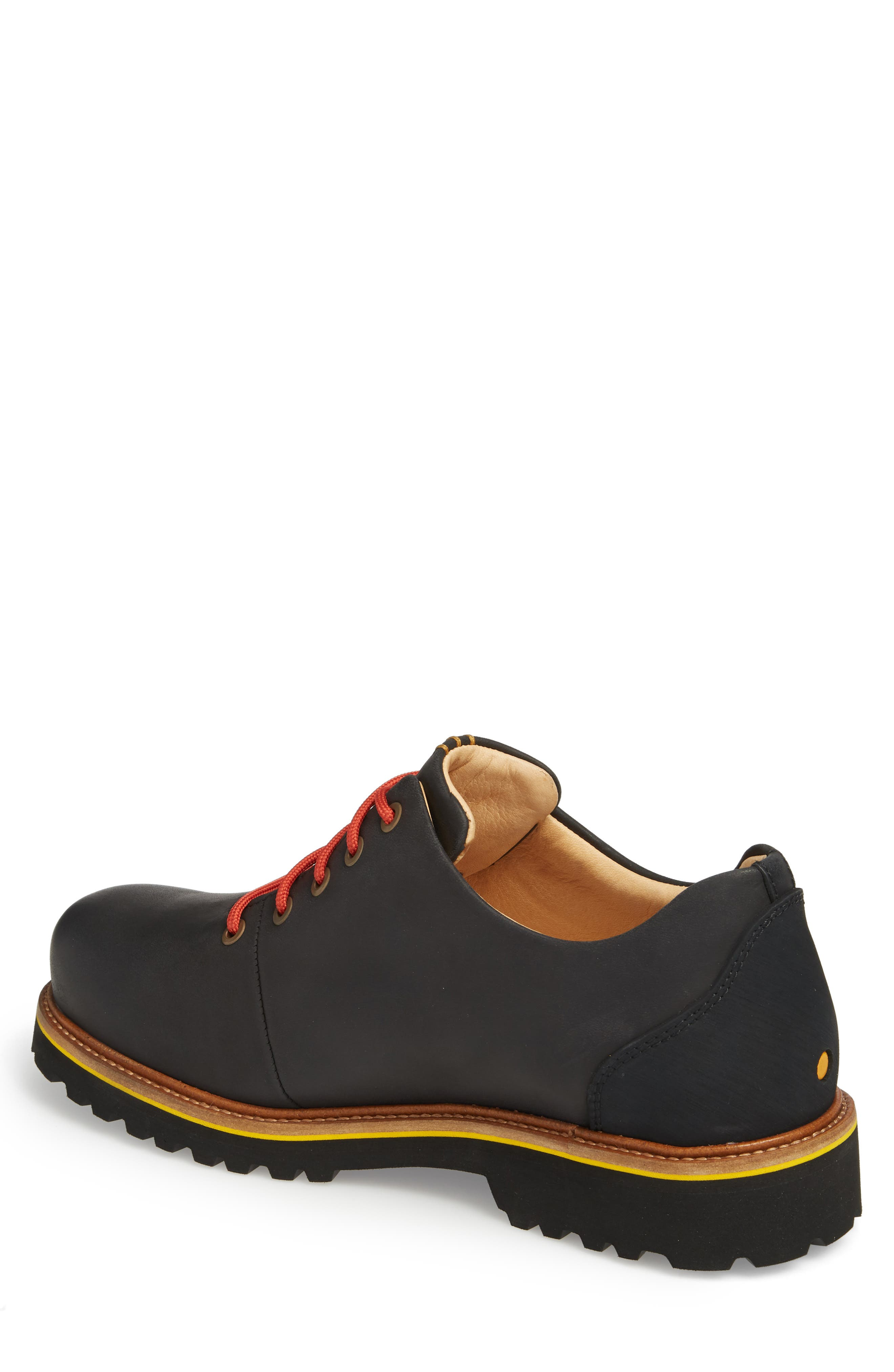 Fresh Plain Toe Oxford,                             Alternate thumbnail 2, color,                             BLACK WAXED LEATHER