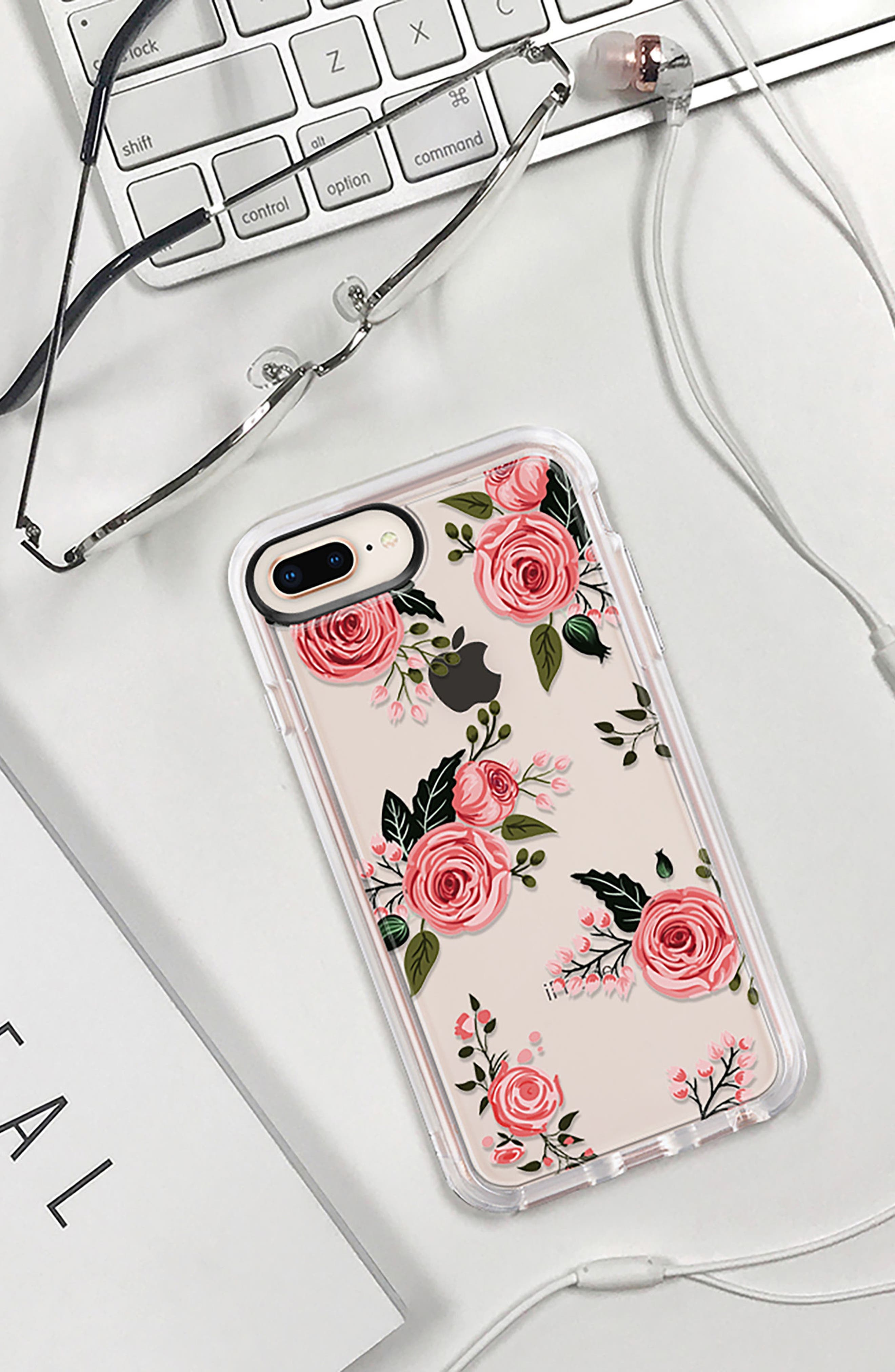 Pink Floral Grip iPhone 7/8 & 7/8 Plus Case,                             Alternate thumbnail 9, color,                             PINK