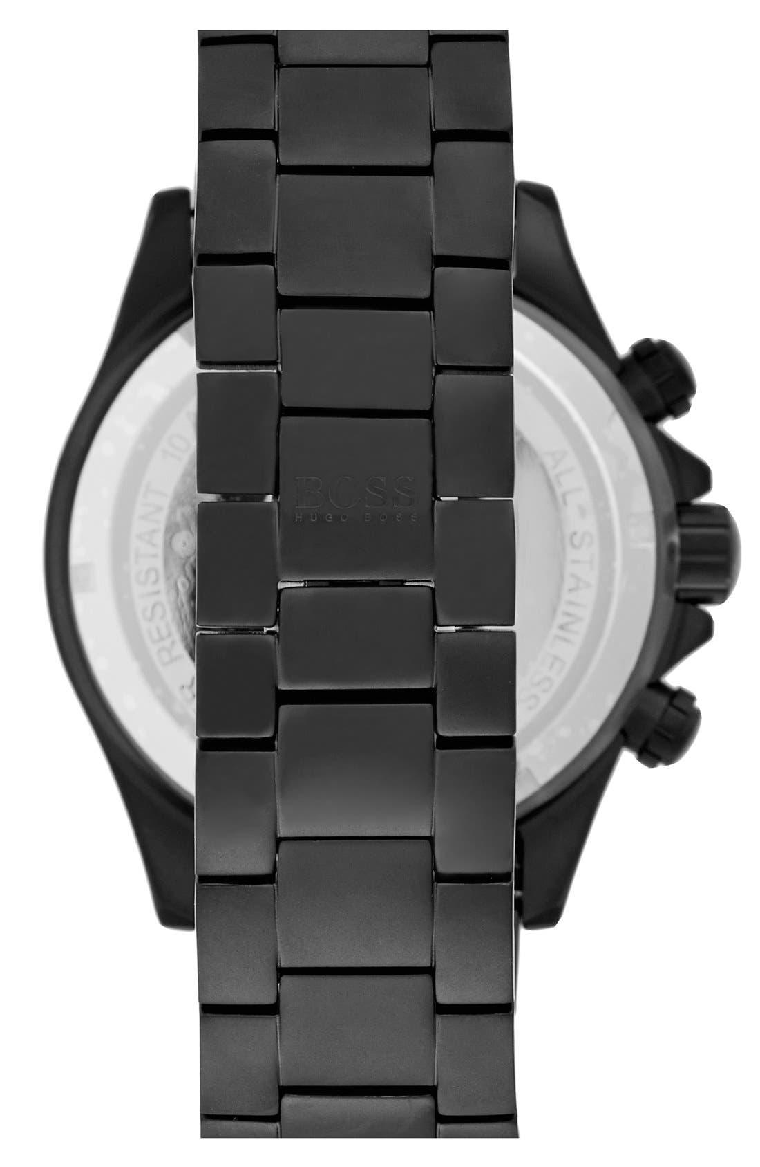 'Ikon' Chronograph Bracelet Watch, 44mm,                             Alternate thumbnail 3, color,                             001