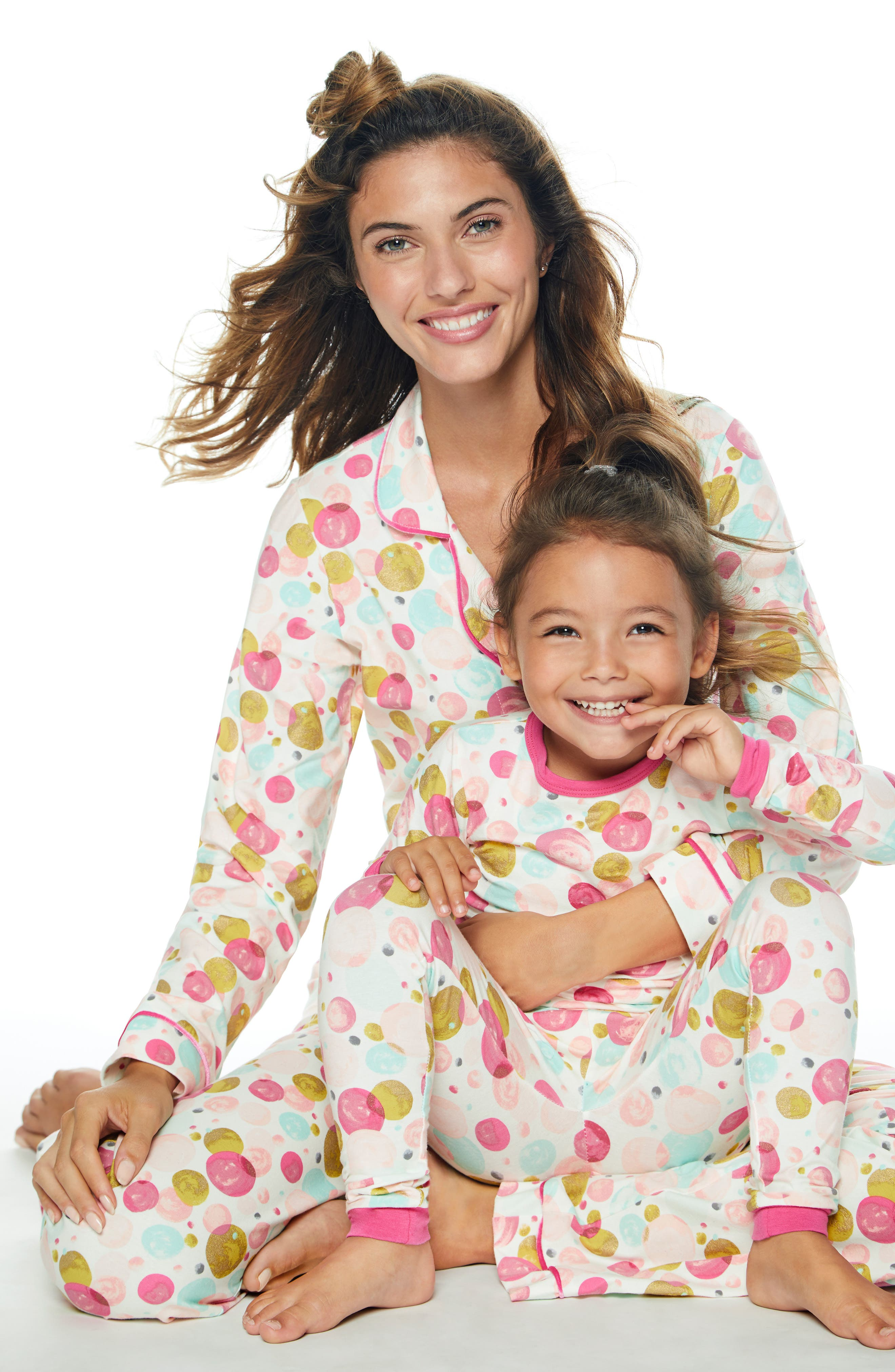 BEDHEAD,                             Print Fitted Two-Piece Pajamas,                             Alternate thumbnail 2, color,                             650