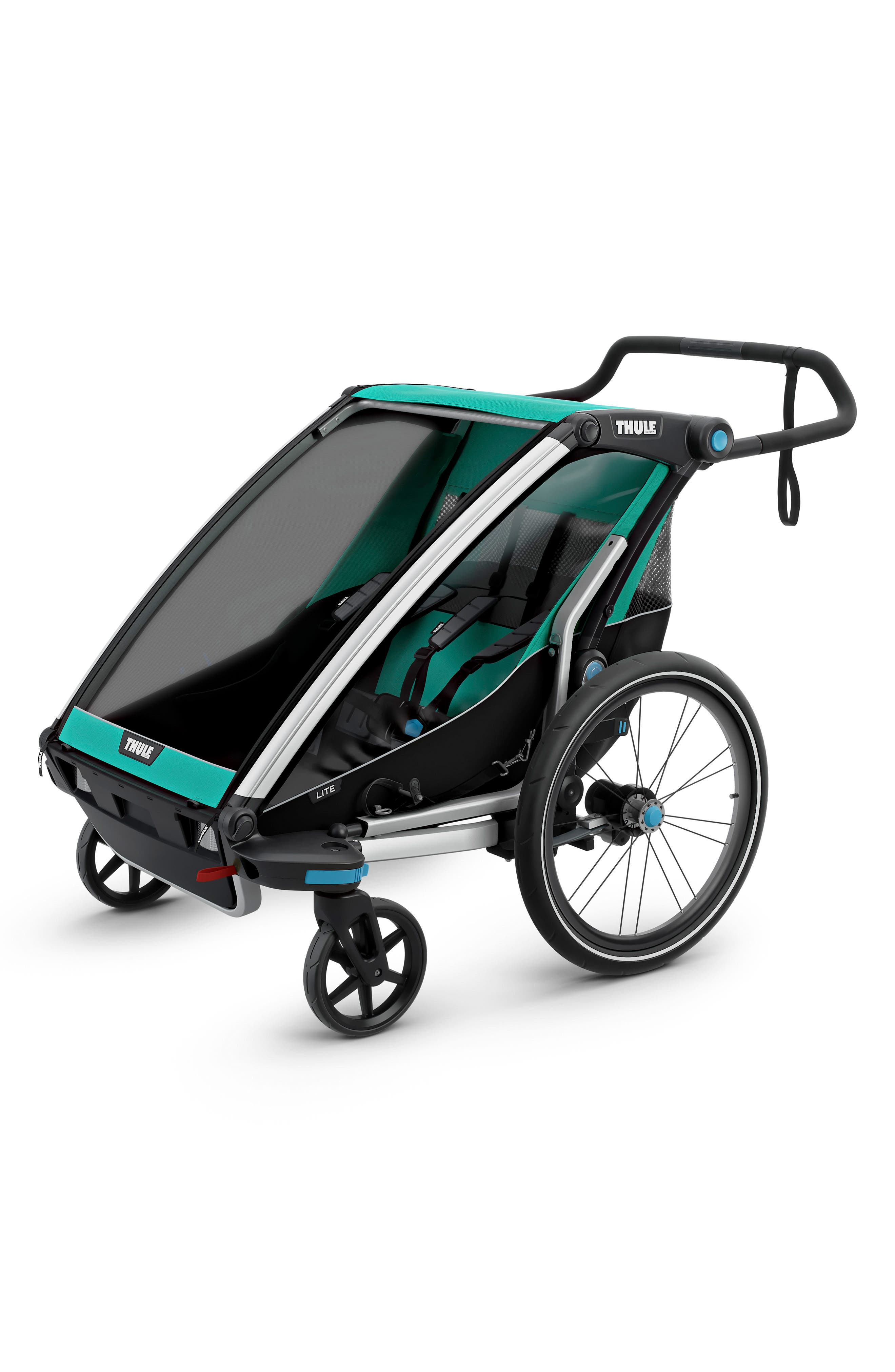 Chariot Lite 2 Multisport Double Cycle Trailer/Stroller,                             Main thumbnail 1, color,                             BLUEGRASS