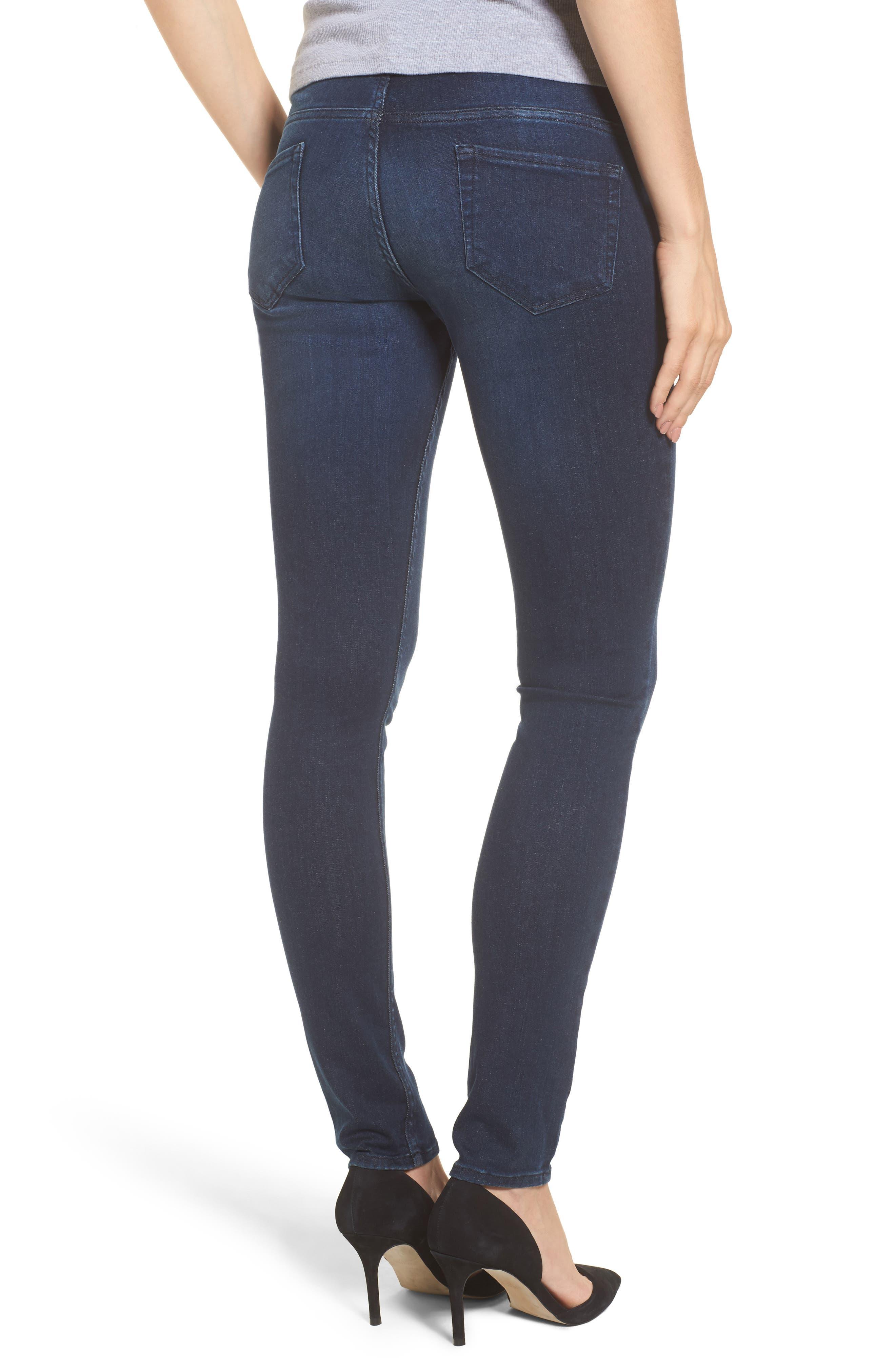 Super Stretch Maternity Skinny Jeans,                             Alternate thumbnail 2, color,                             INDIGO