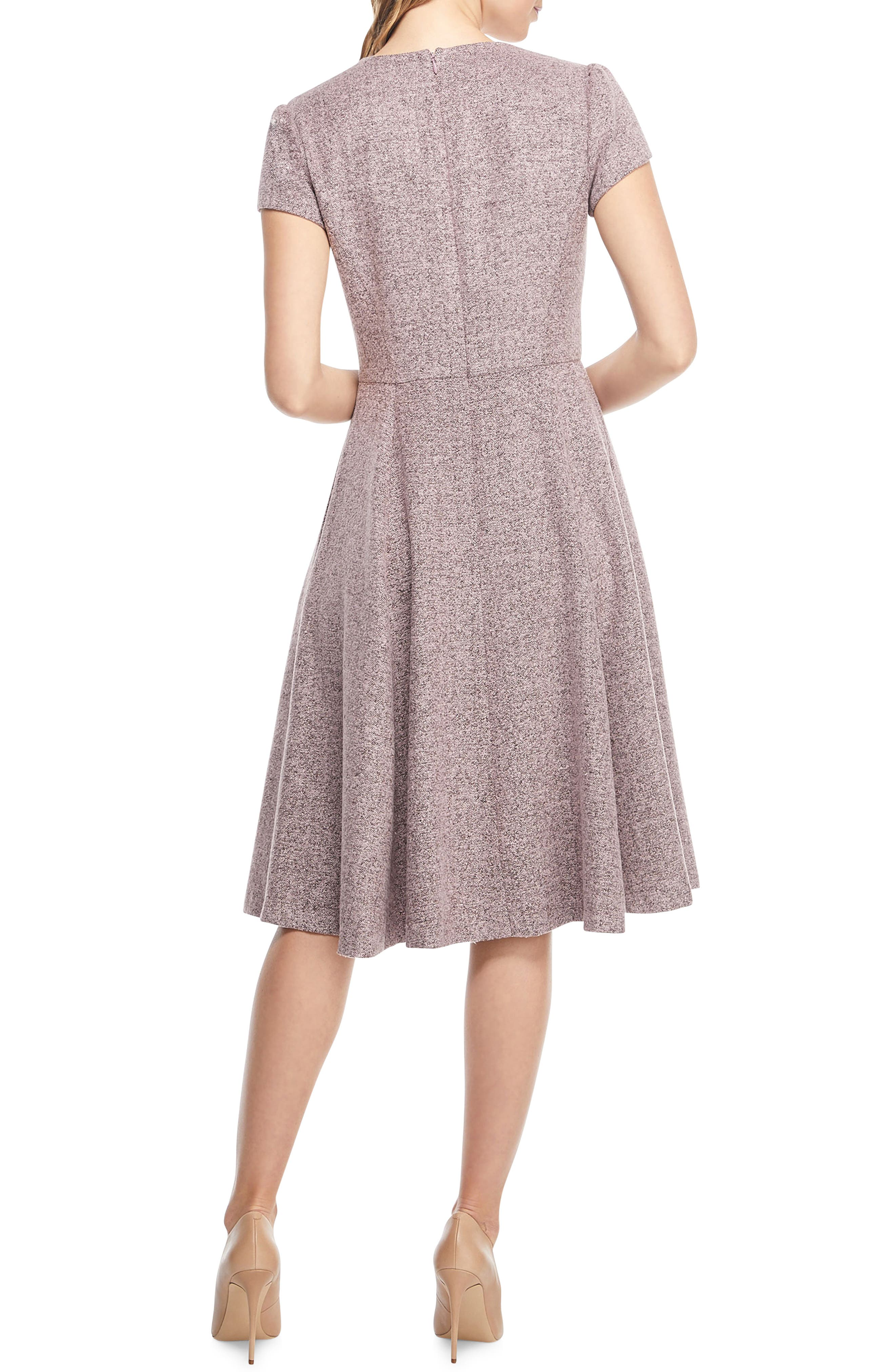 Agatha Dainty Tweed Dress,                             Alternate thumbnail 2, color,                             650