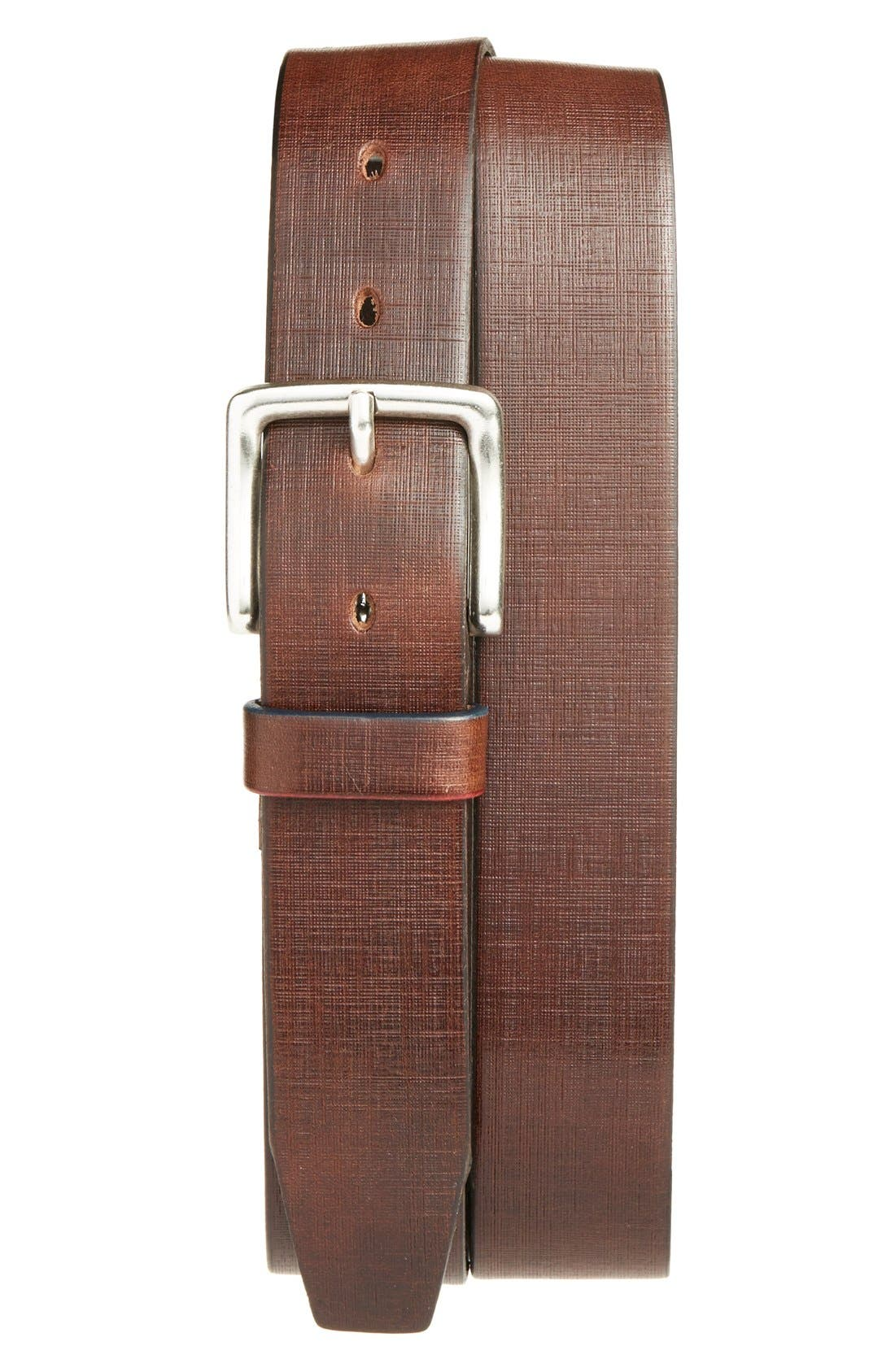 Leather Belt,                             Main thumbnail 1, color,