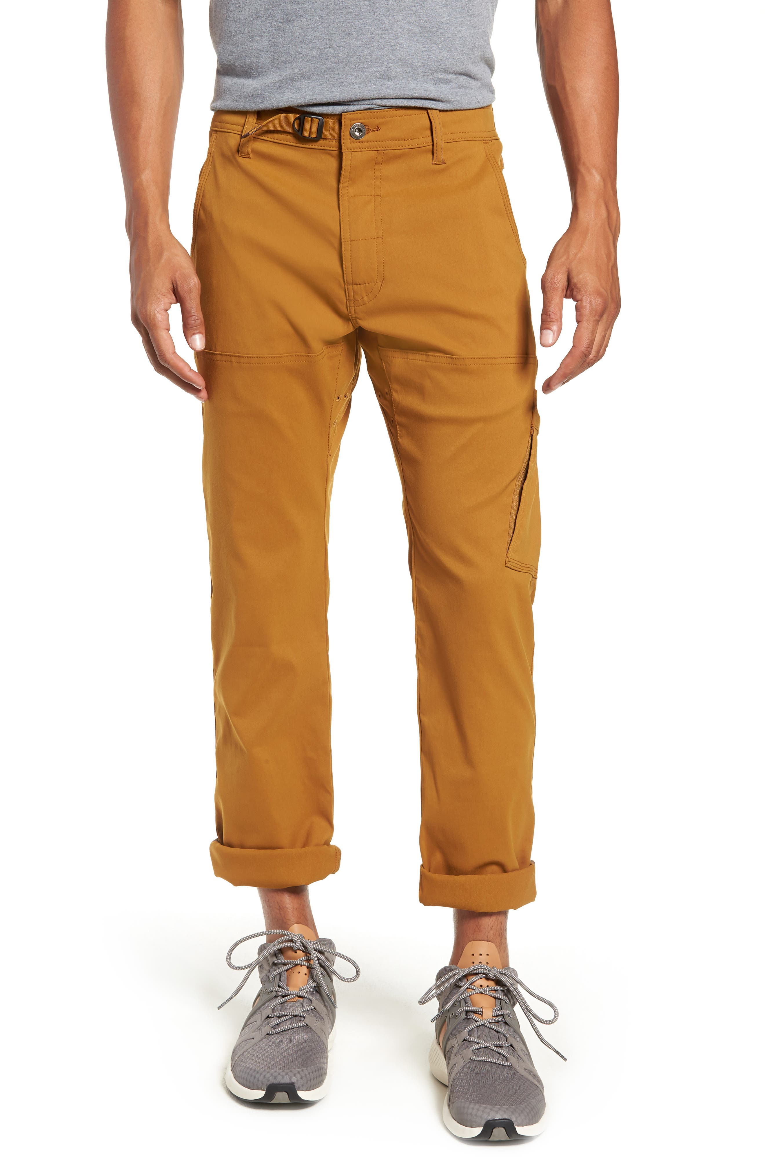 Stretch Zion Roll Pants,                             Alternate thumbnail 4, color,                             BRONZED