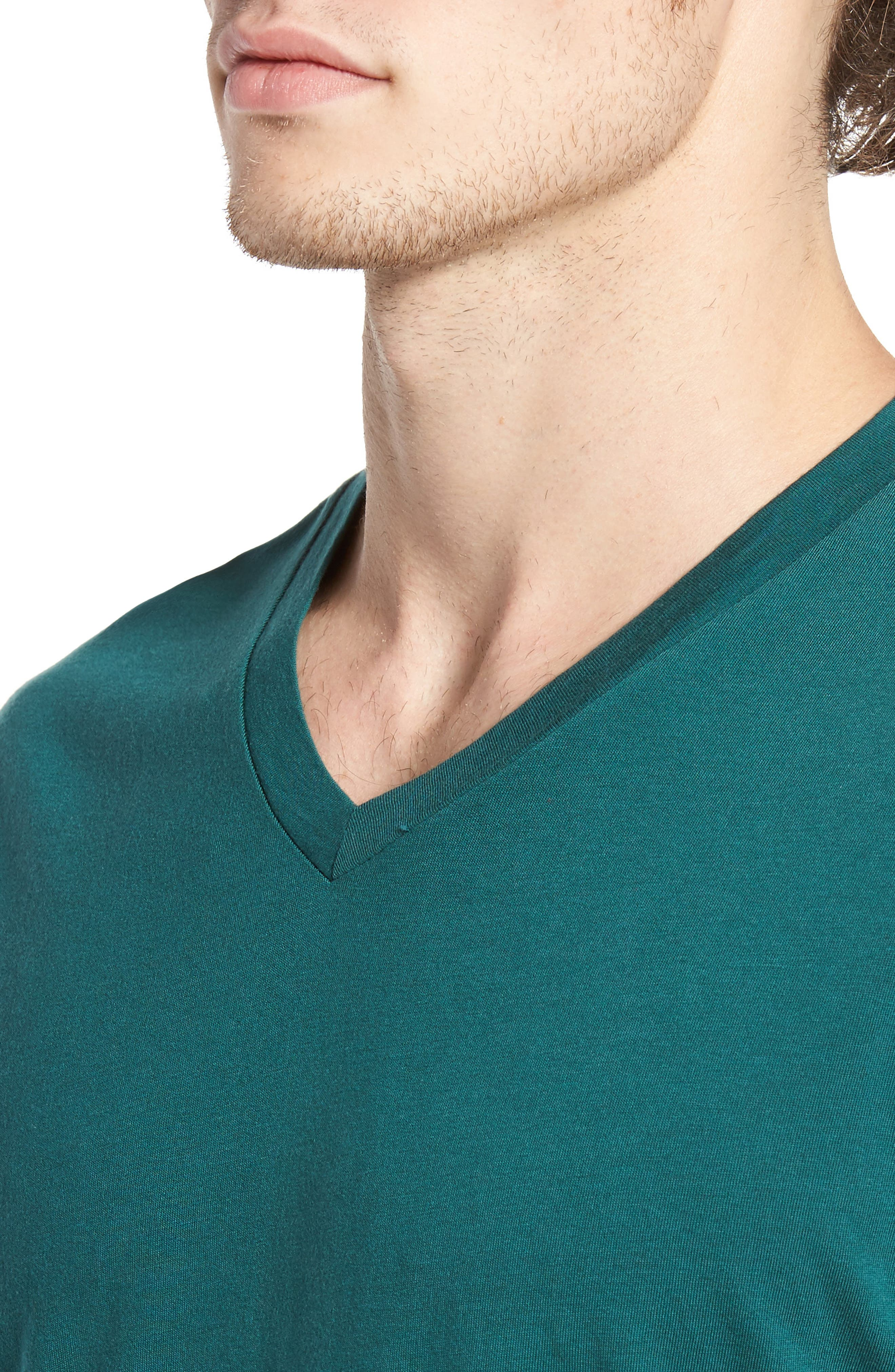 Essential V-Neck T-Shirt,                             Alternate thumbnail 4, color,                             340