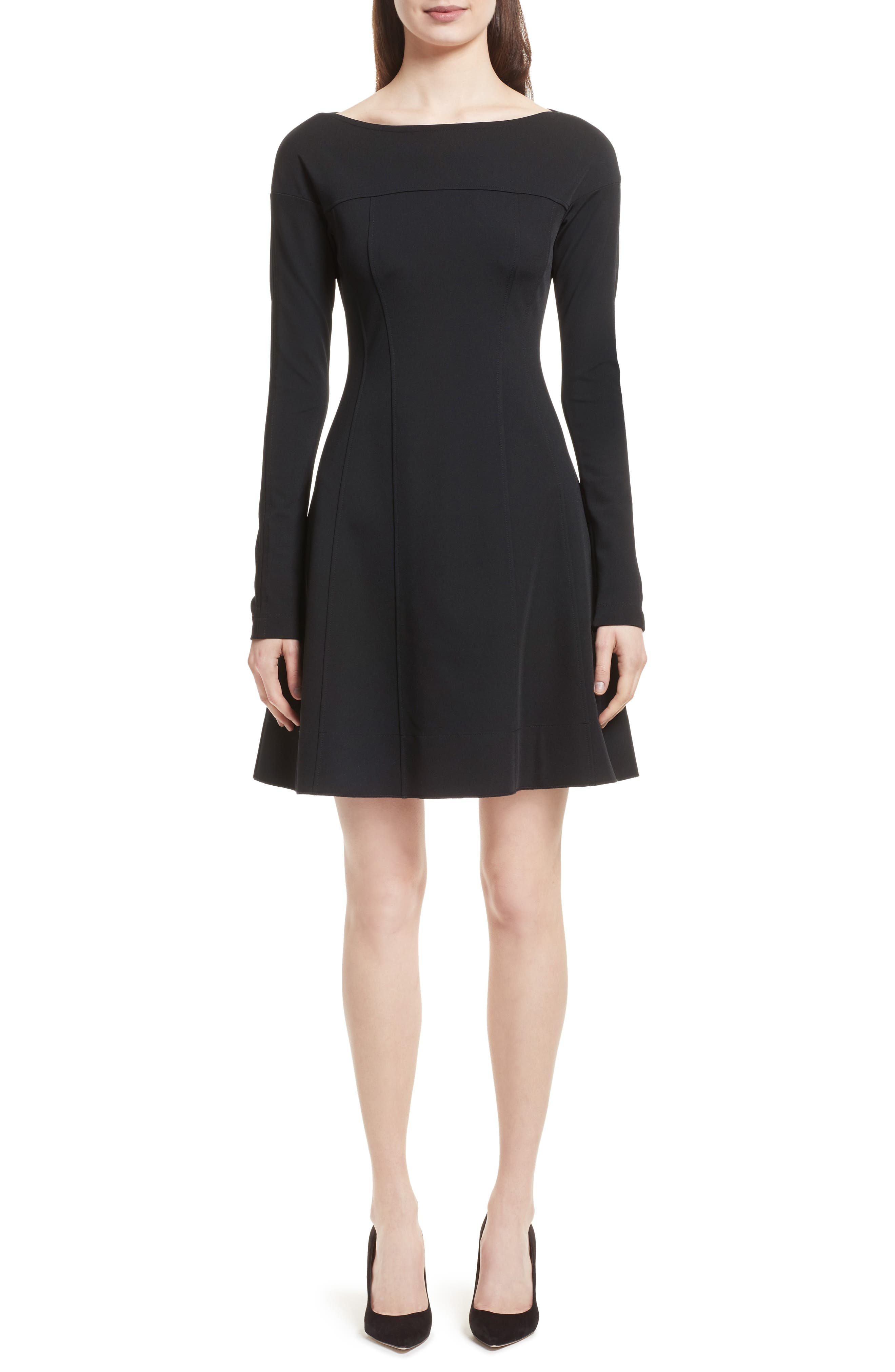 Valentina Scuba Knit A-Line Dress,                             Main thumbnail 1, color,