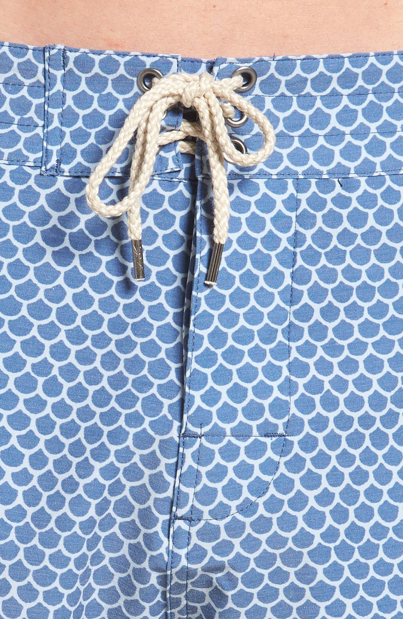 Classic Board Shorts,                             Alternate thumbnail 4, color,                             FISHSCALE BATIK