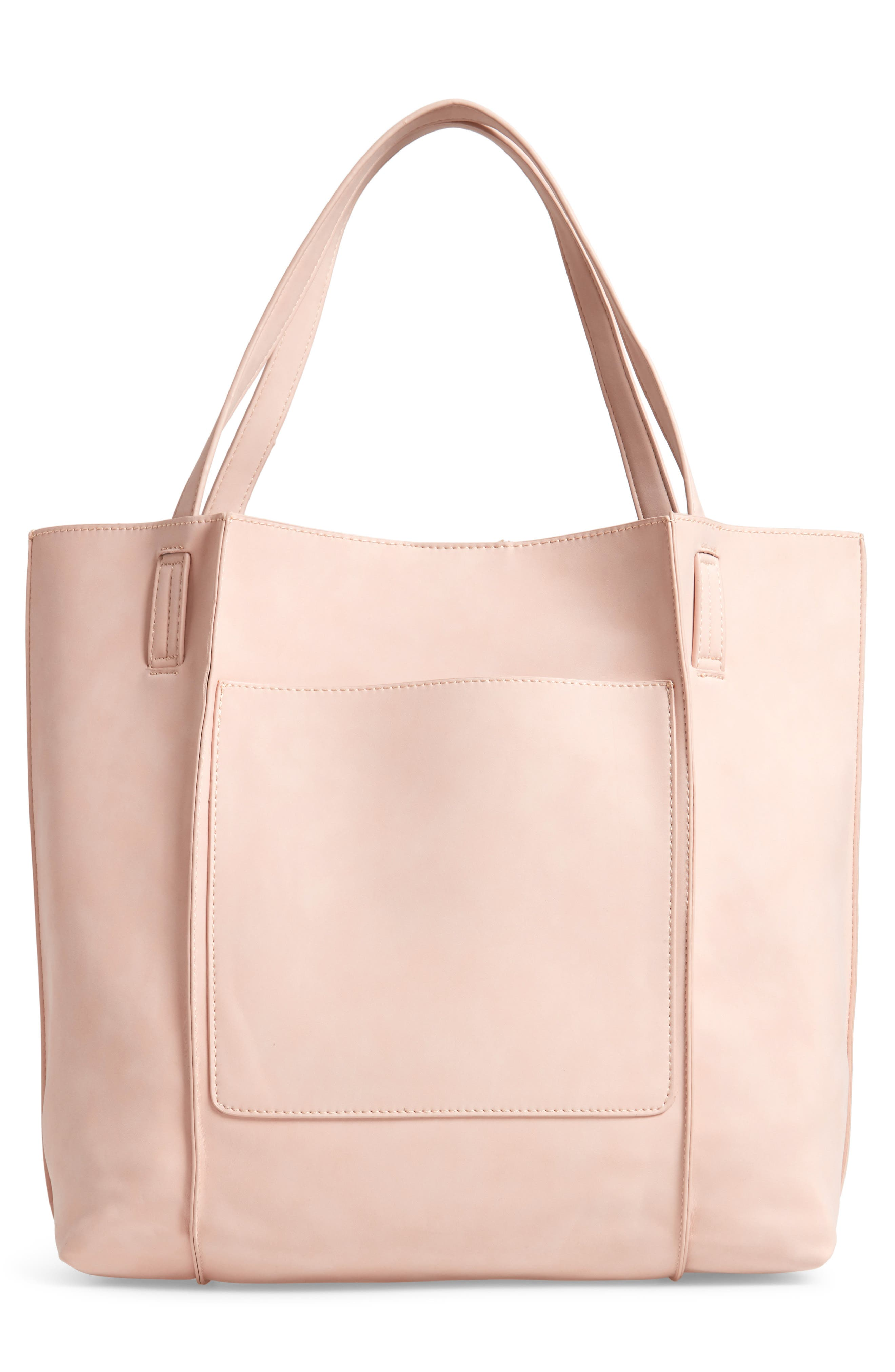 Blair Faux Leather Tote,                             Alternate thumbnail 3, color,                             BLUSH