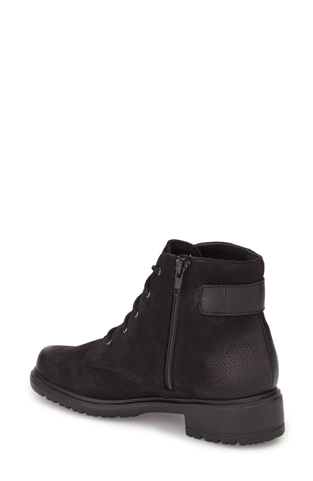 Bradley Water Resistant Boot,                             Alternate thumbnail 2, color,                             BLACK TUMBLED NUBUCK LEATHER
