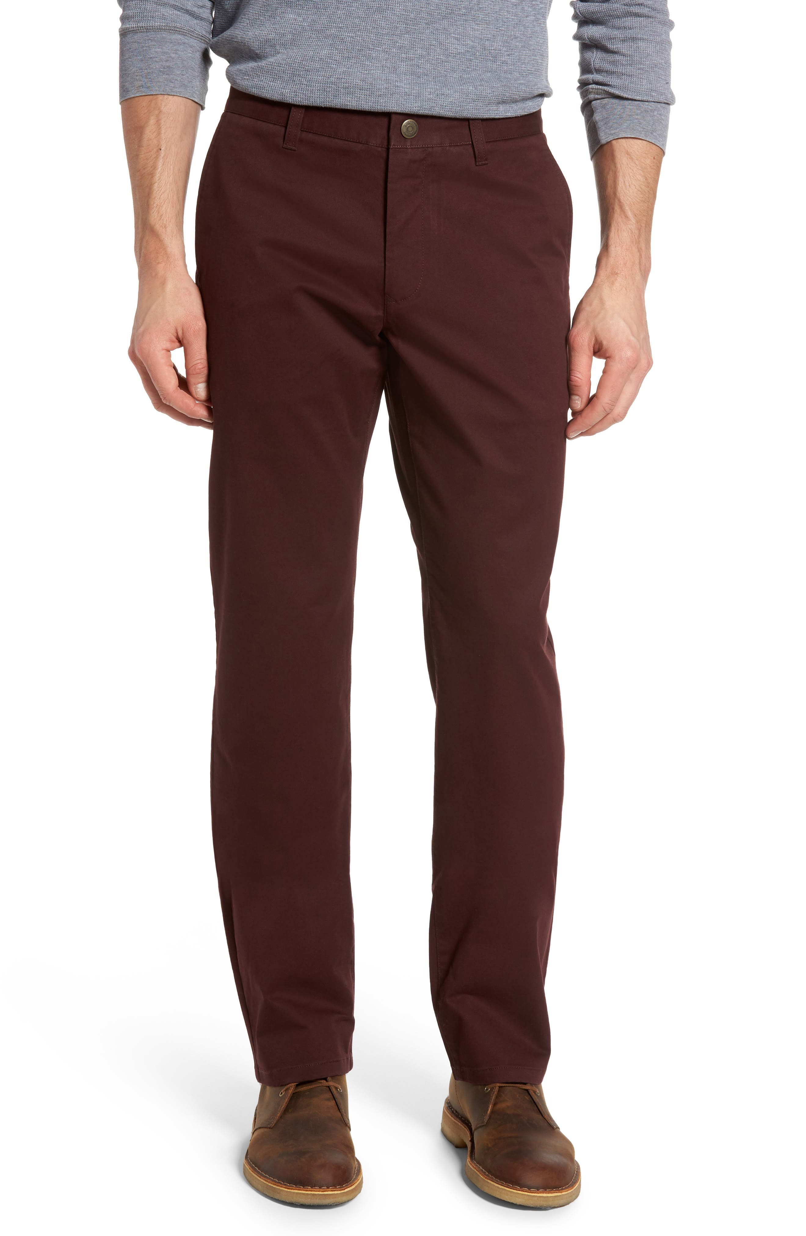 Straight Leg Stretch Washed Chinos,                             Main thumbnail 4, color,