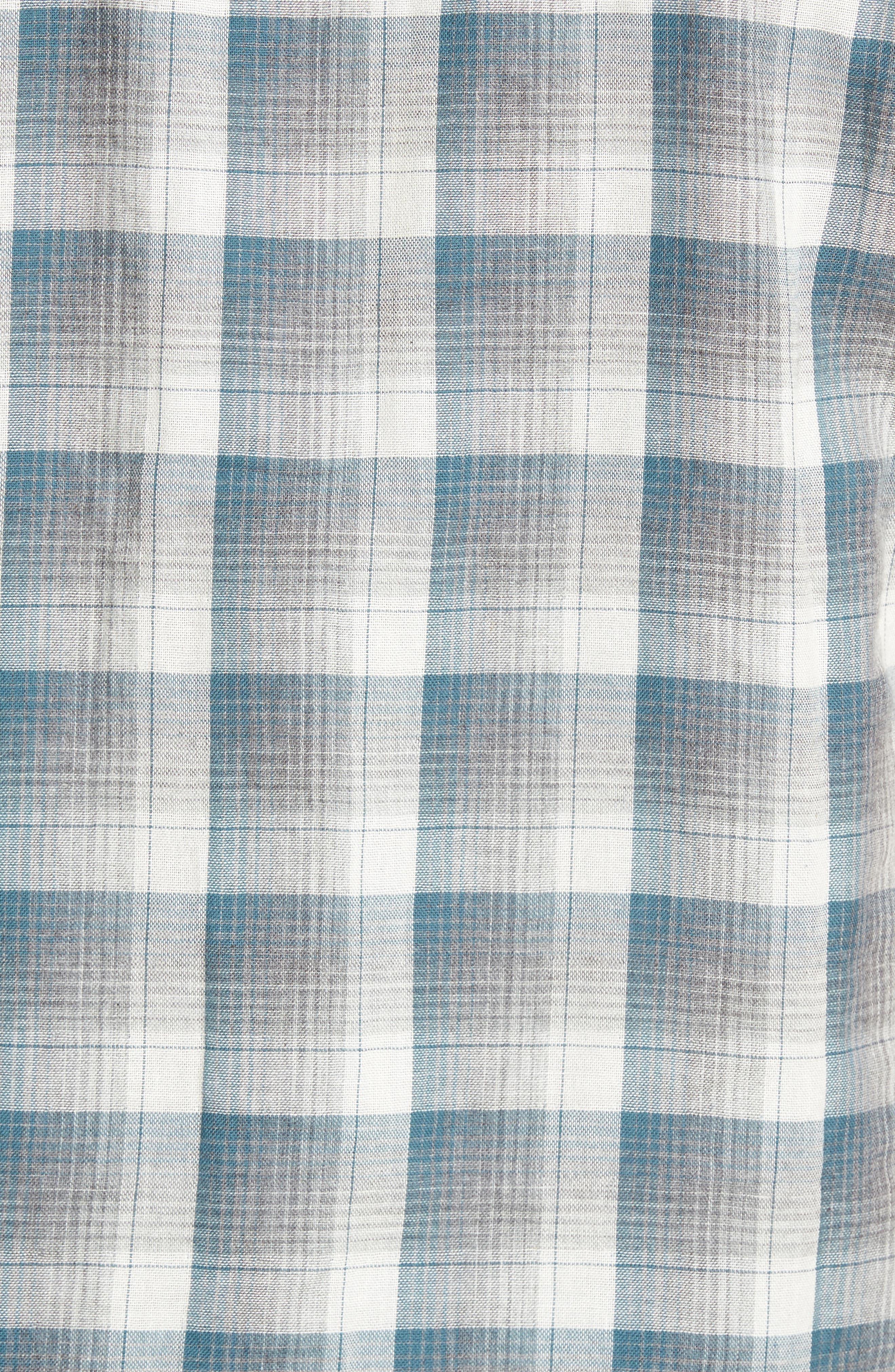 Clark Regular Fit Reversible Plaid Sport Shirt,                             Alternate thumbnail 5, color,                             406