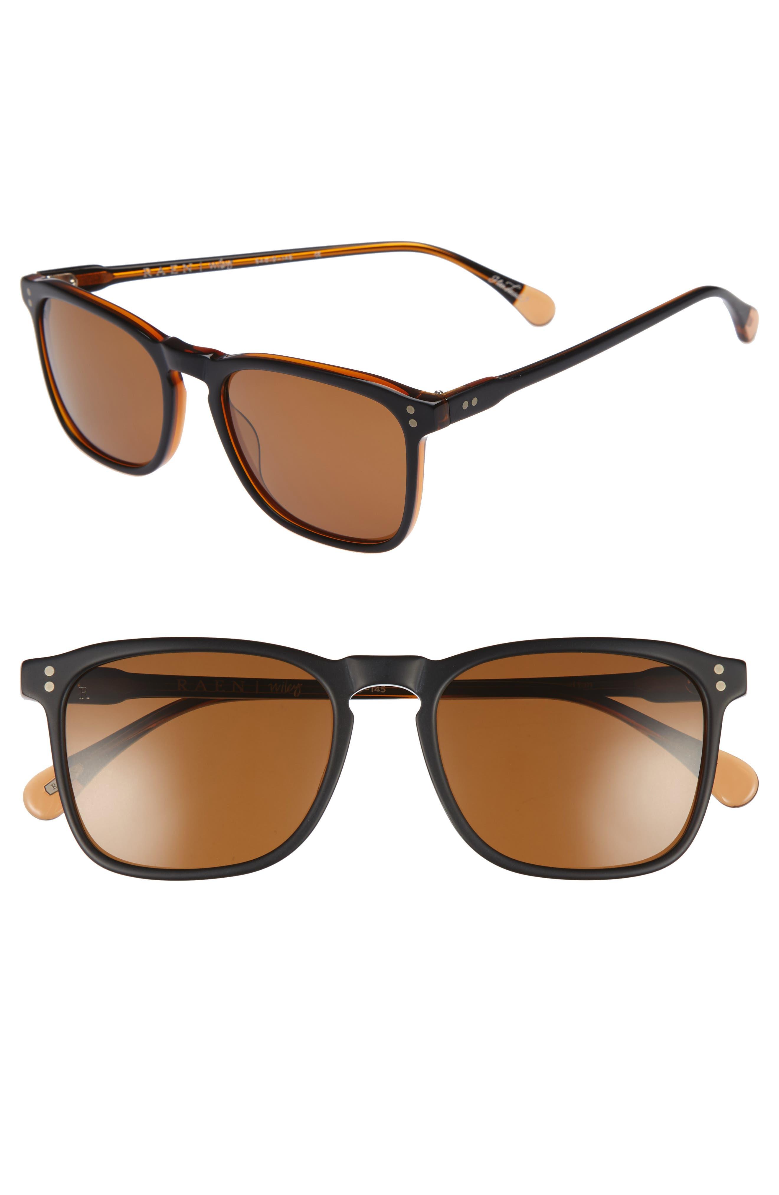 Wiley 54mm Polarized Sunglasses,                             Main thumbnail 1, color,                             004