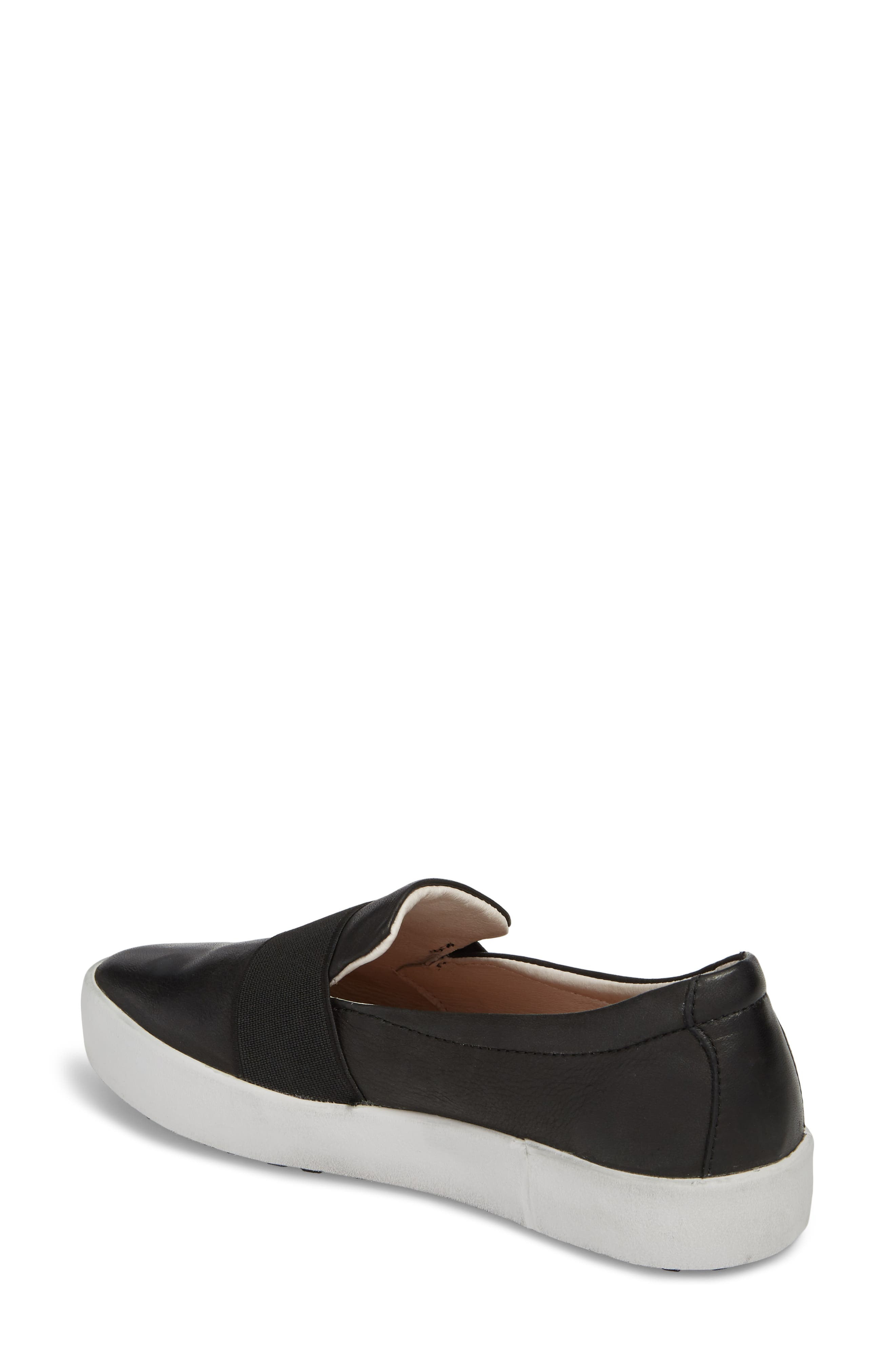 PL99 Slip-On Sneaker,                             Alternate thumbnail 2, color,                             BLACK LEATHER