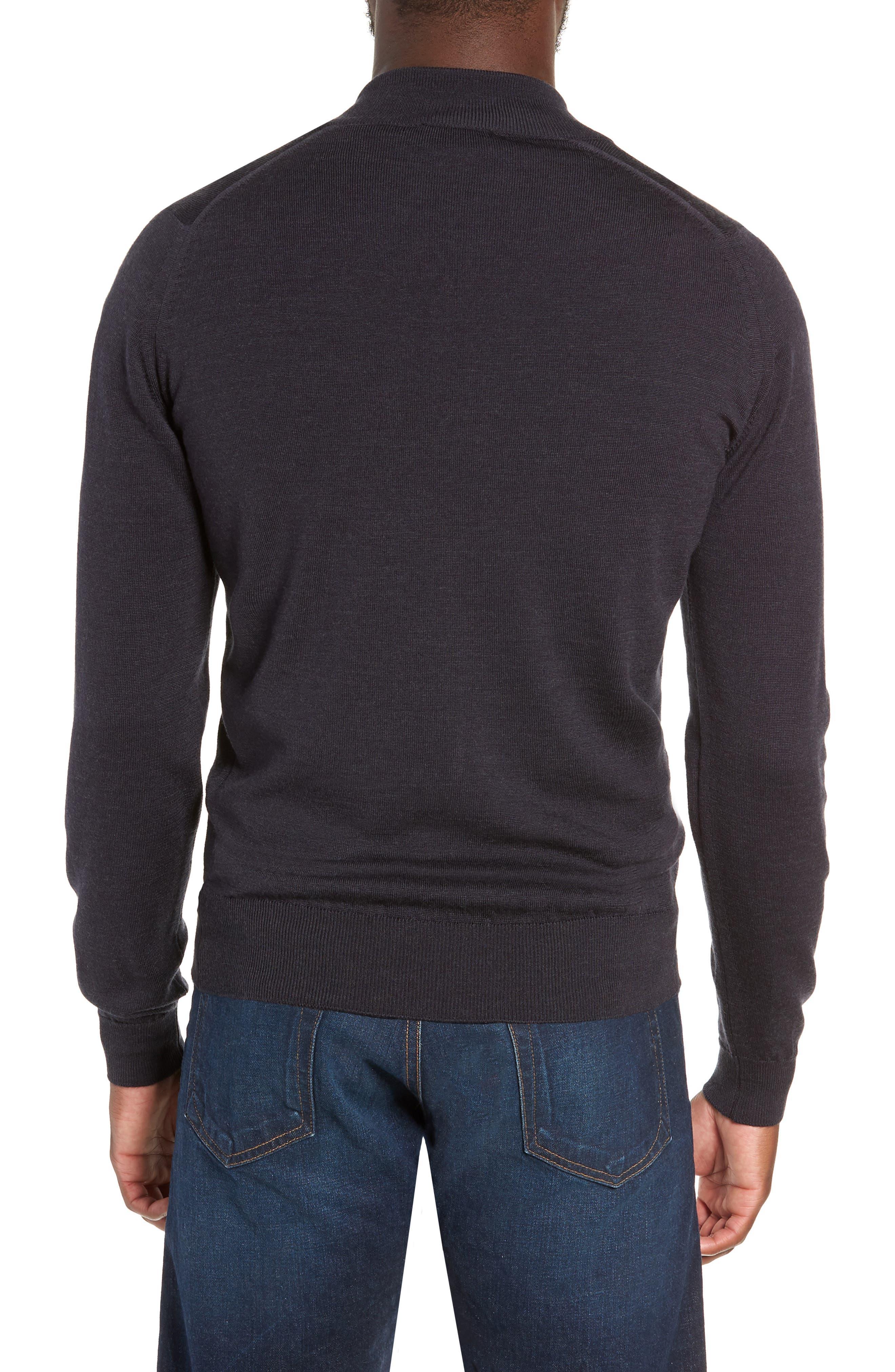 Claygate Slim Fit Merino Wool Zip Jacket,                             Alternate thumbnail 2, color,                             HEPBURN SMOKE