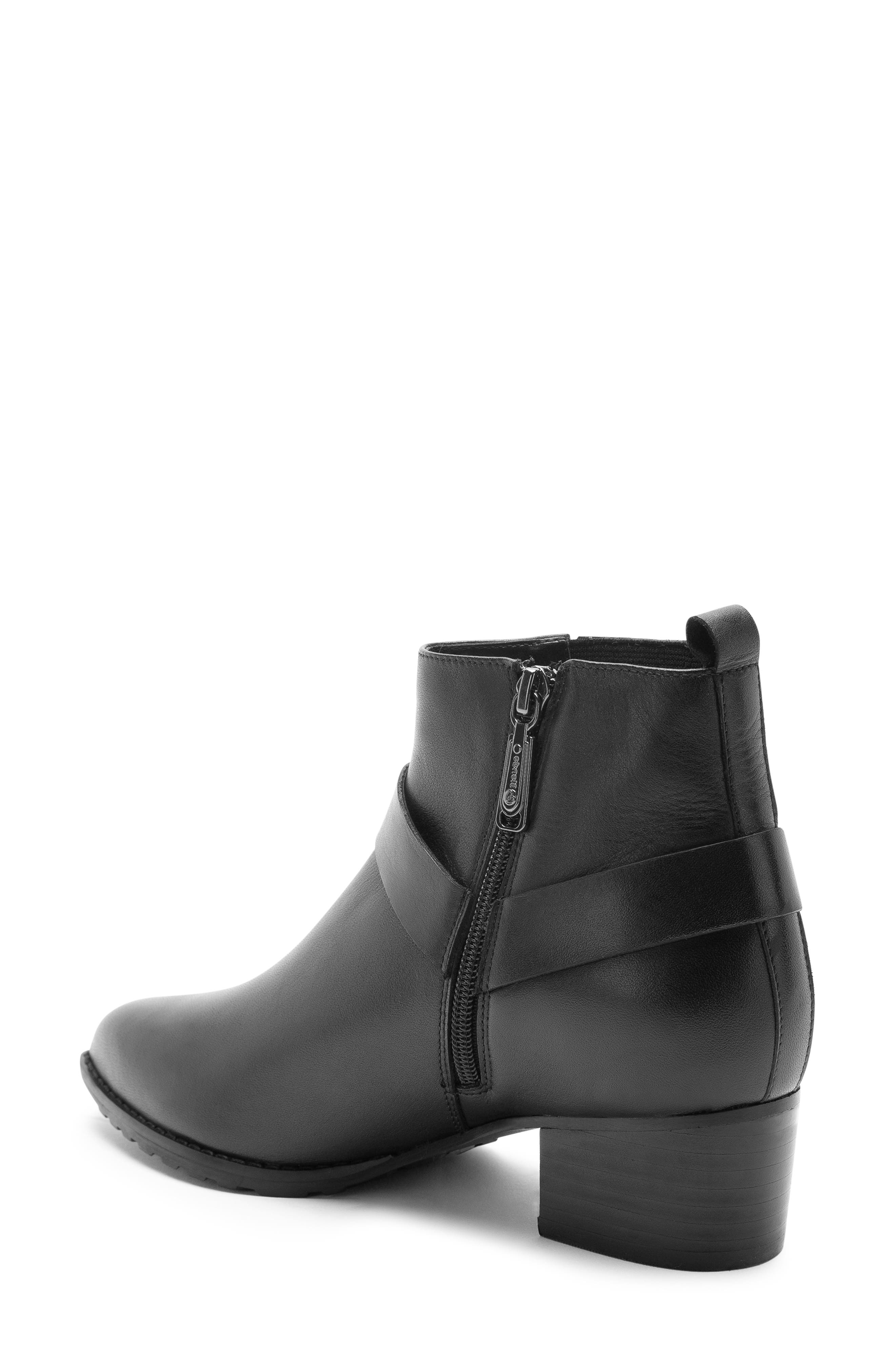 Tasha Waterproof Bootie,                             Alternate thumbnail 2, color,                             BLACK LEATHER